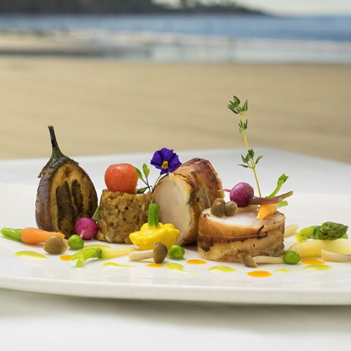 The Marine Room, beautiful food and view to match