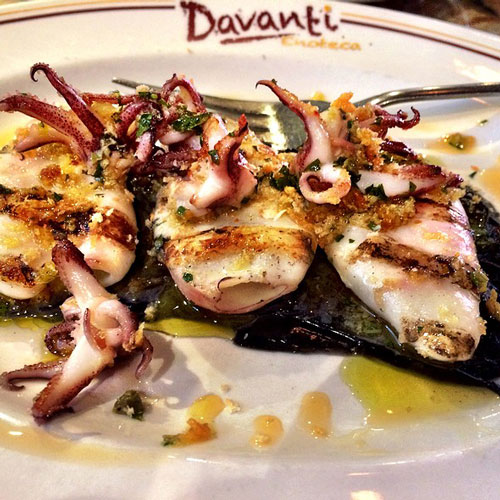 Squid at Davanti Enoteca in San Diego Little Italy