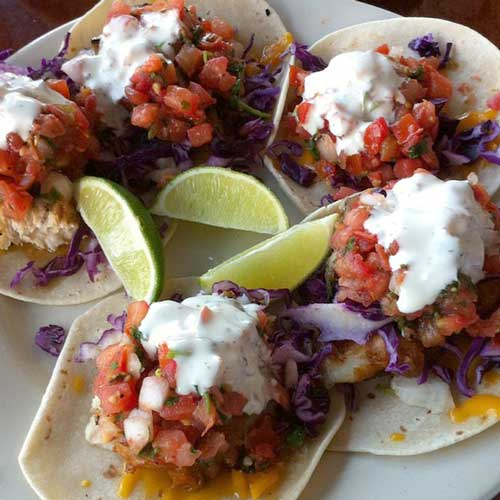 Fish tacos at South Beach Bar and Grille, San Diego