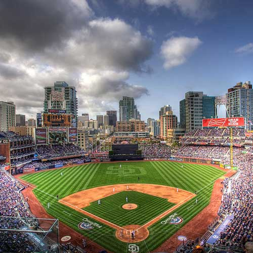 Padres playing at Petco Park