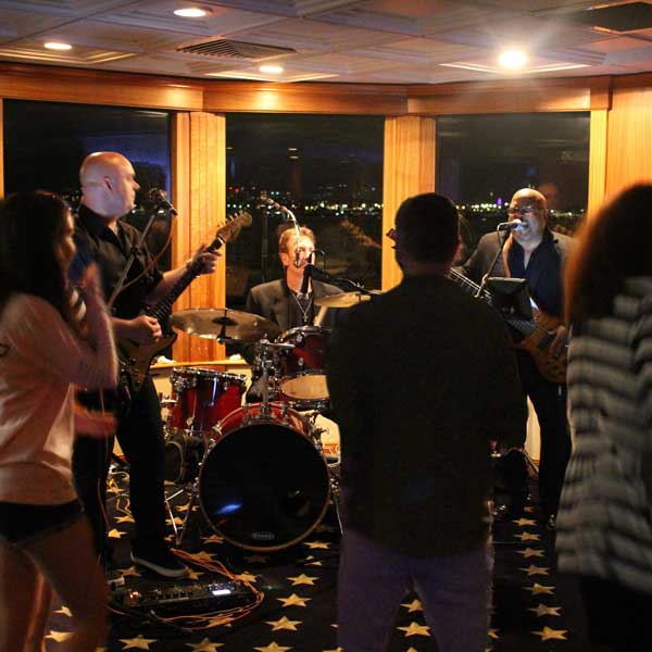 Play that funky music, white boy - dance like it's the prom again on Flagship Harbor Cruise.