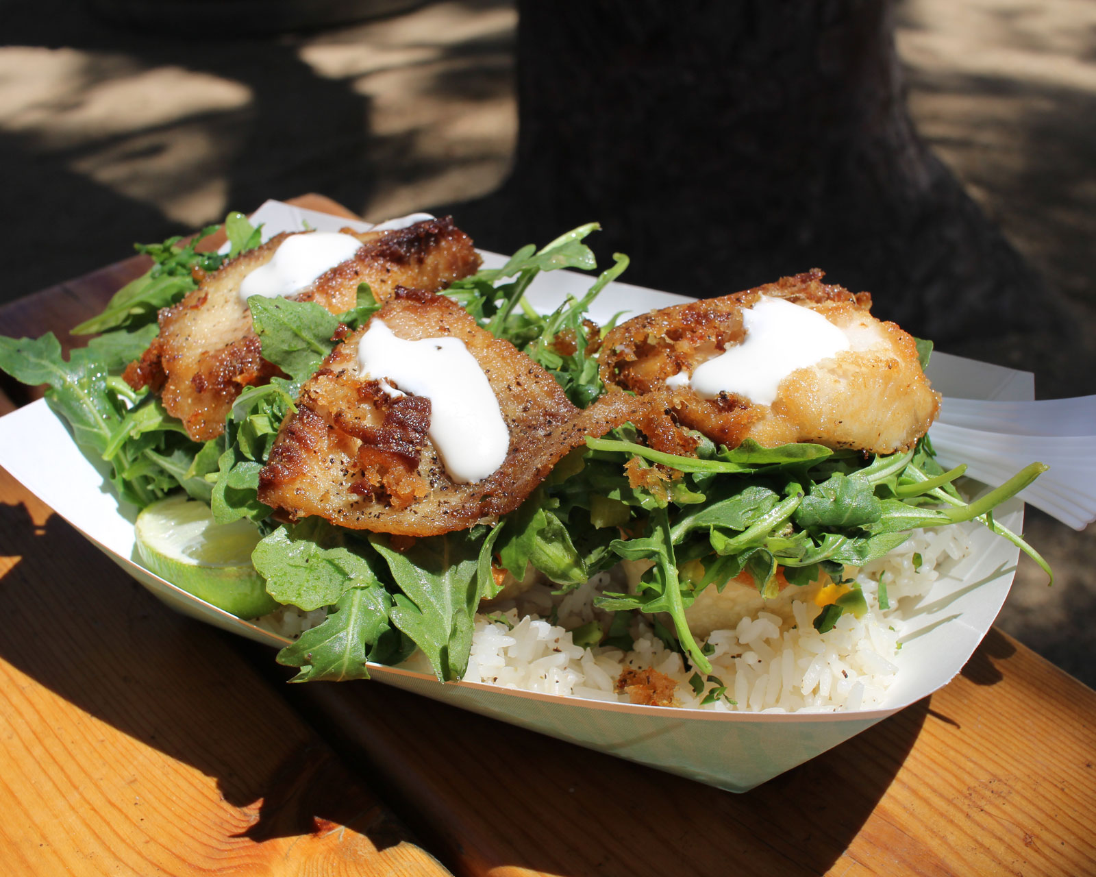 This is not your standard fish taco at Mishmash Gourmet.