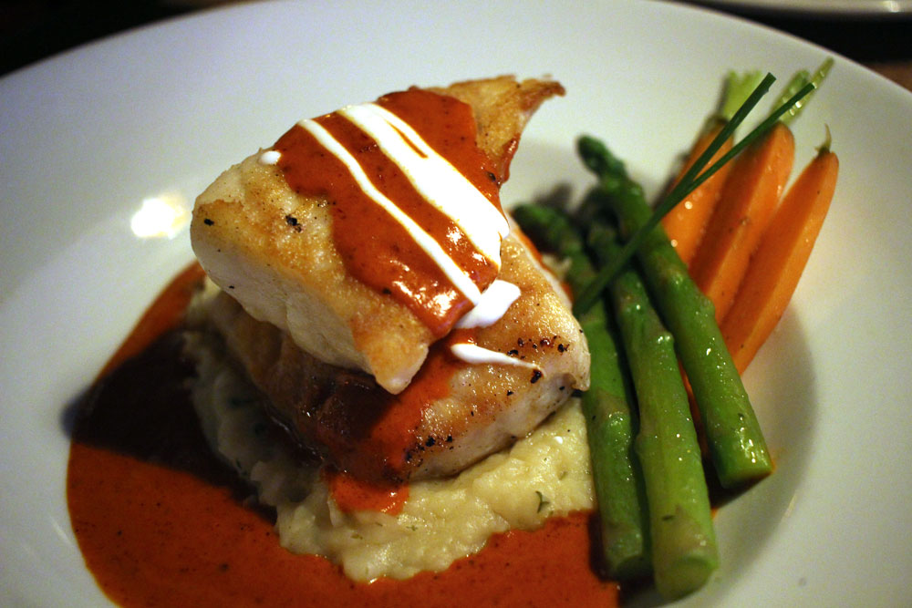 Another beautiful and flavorful dish, this time sea bass from El Agave.