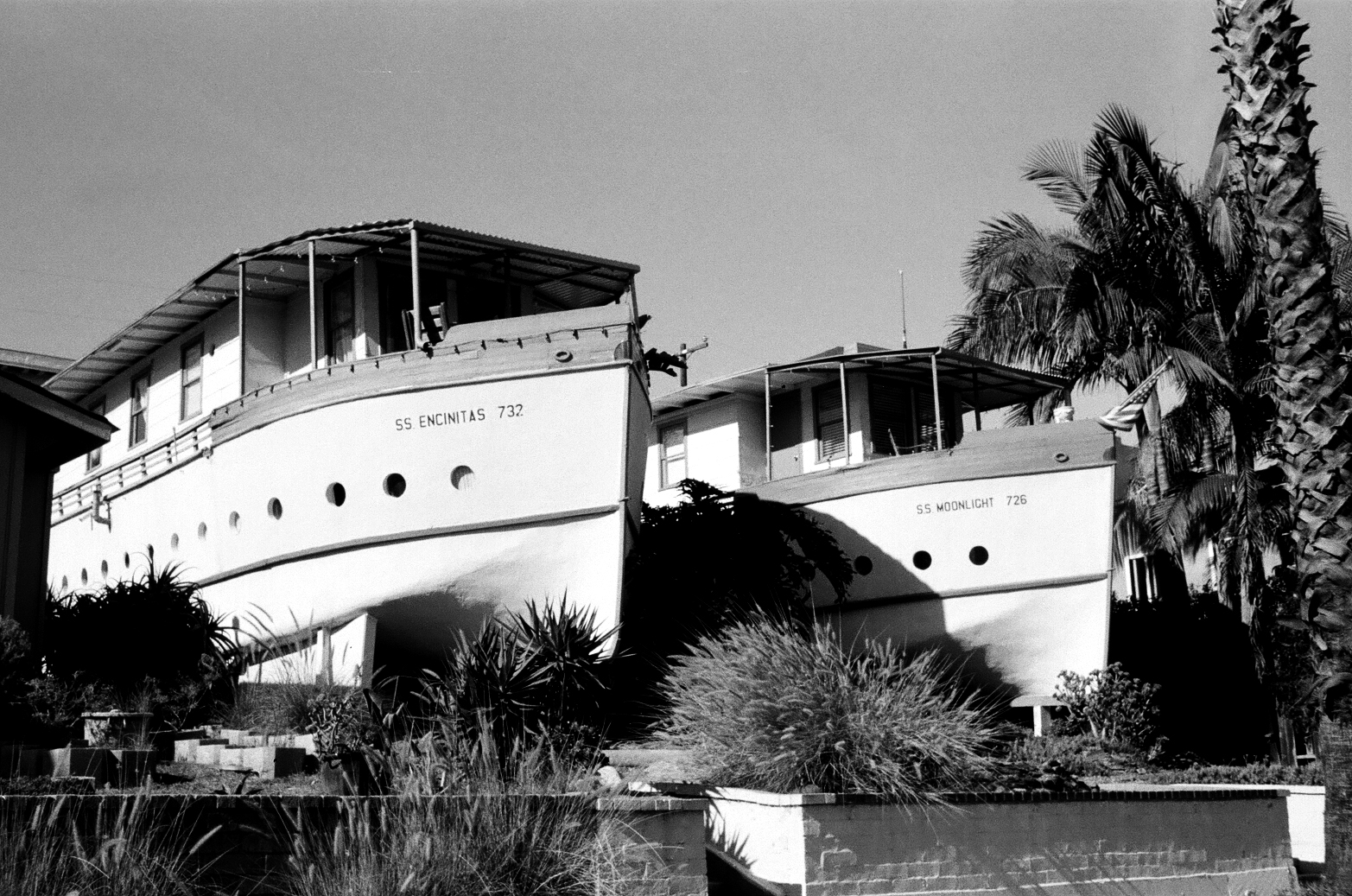 The famous Encinitas Boat Houses.