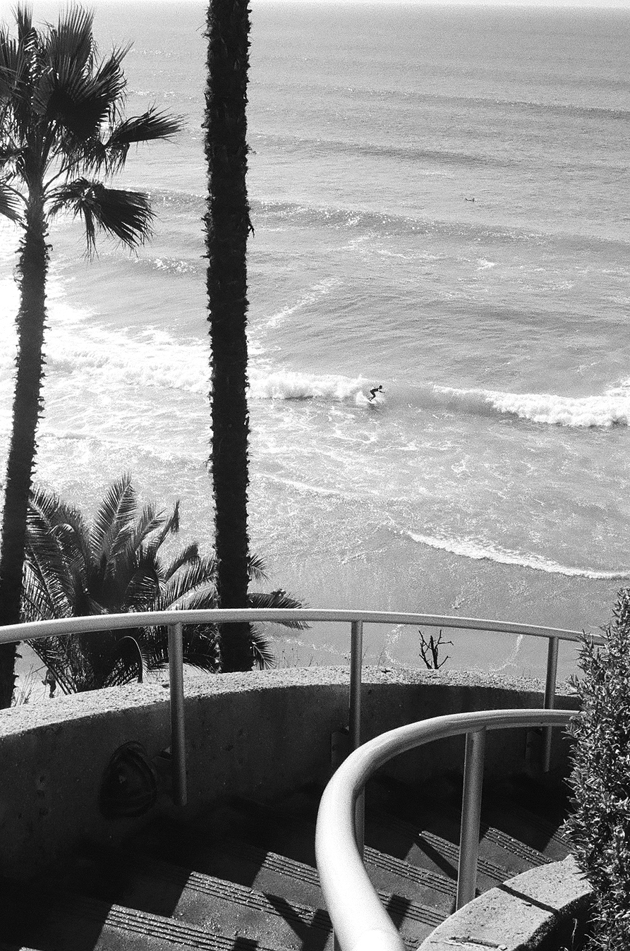 Looking down on the surf