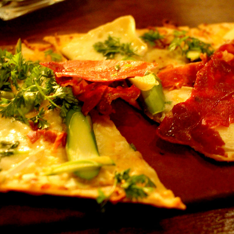 Light and crispy flatbread at Seasons 52