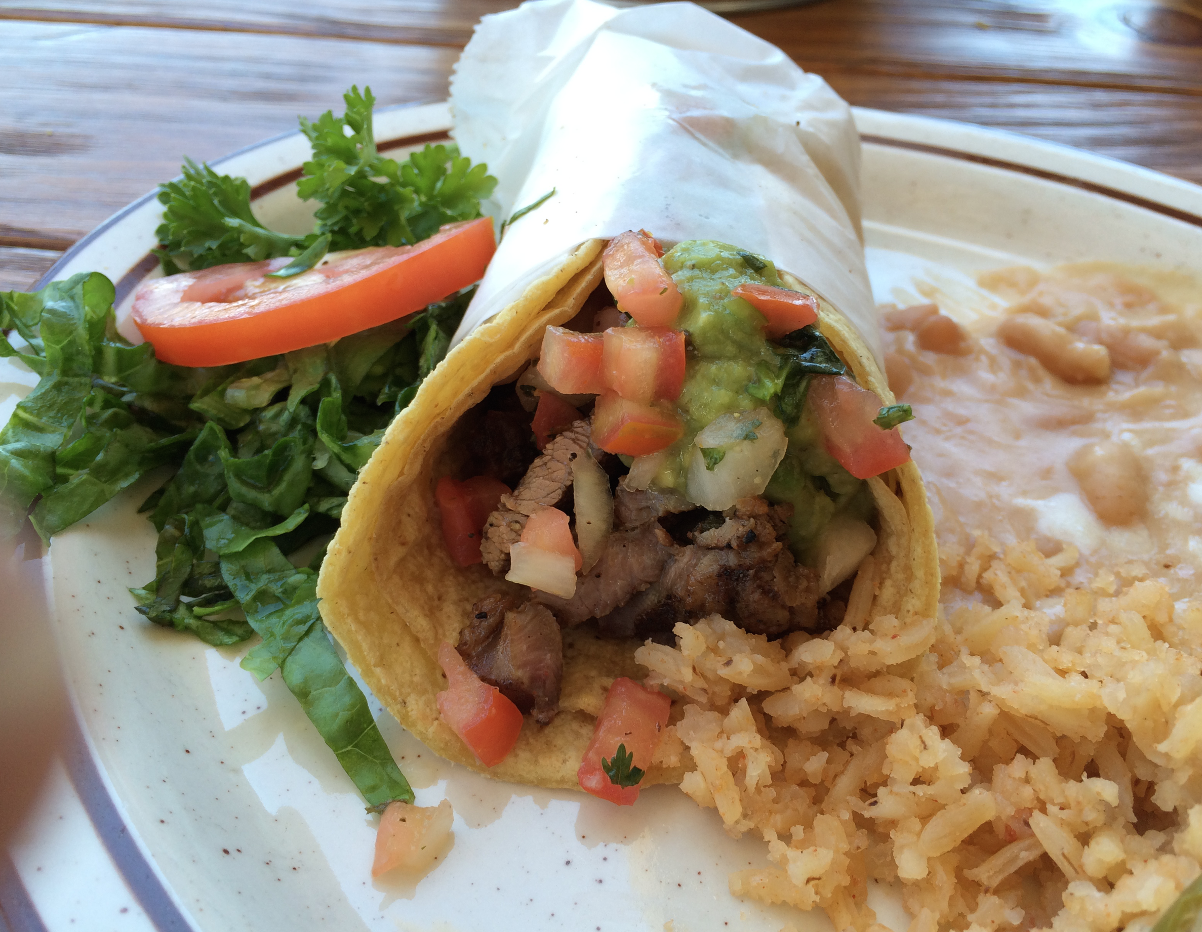 This is it! The Carne Asada taco at Alfonso's of La Jolla