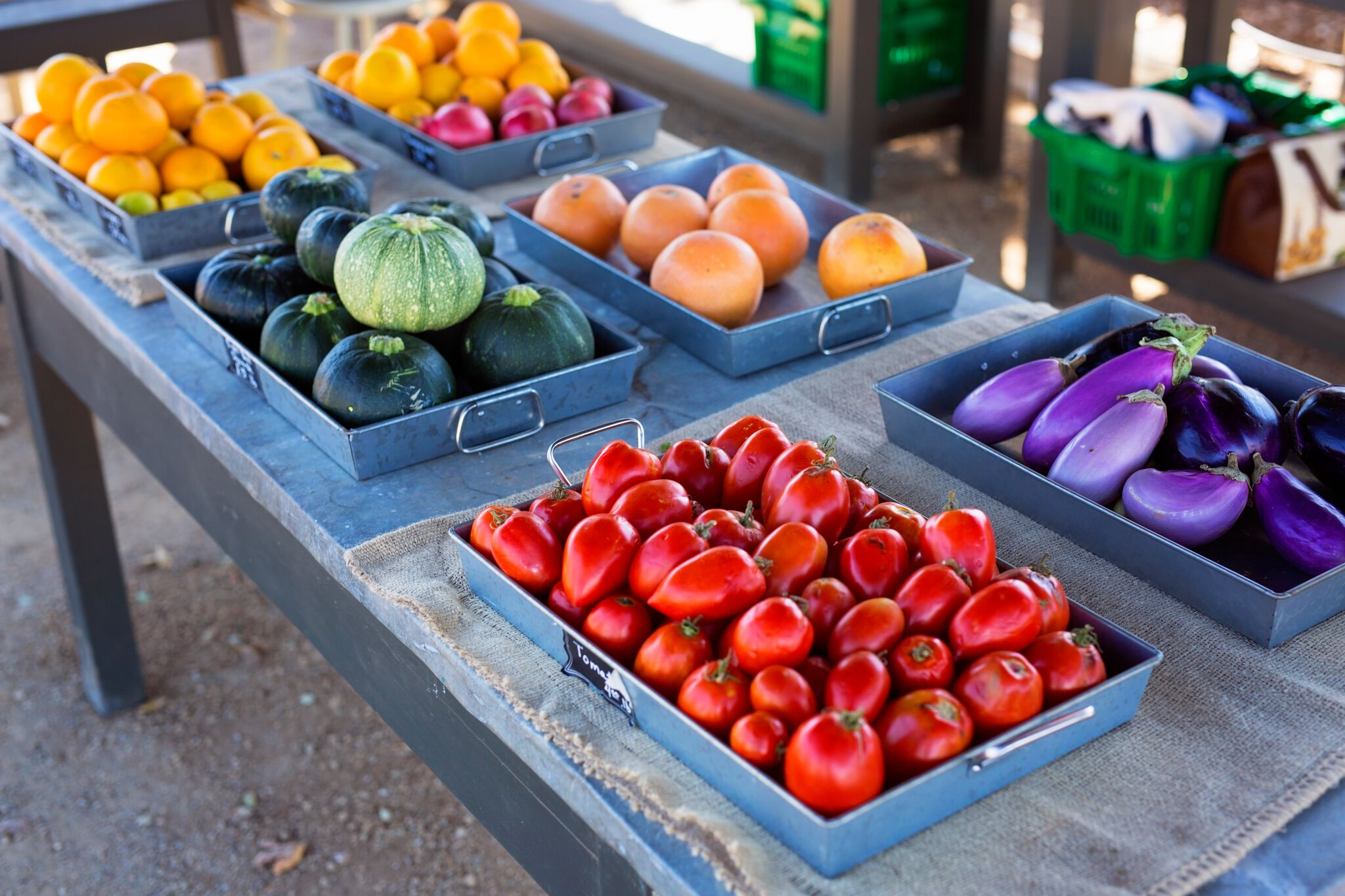 Fresh veggies at Golden Door Farm Stand San Marcos