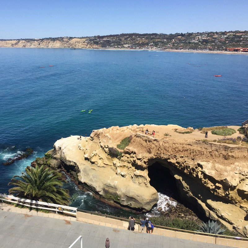 How's this for a view? Eddie V's in La Jolla.
