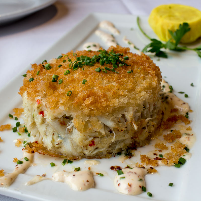 Crab Cake at Eddie V's La Jolla
