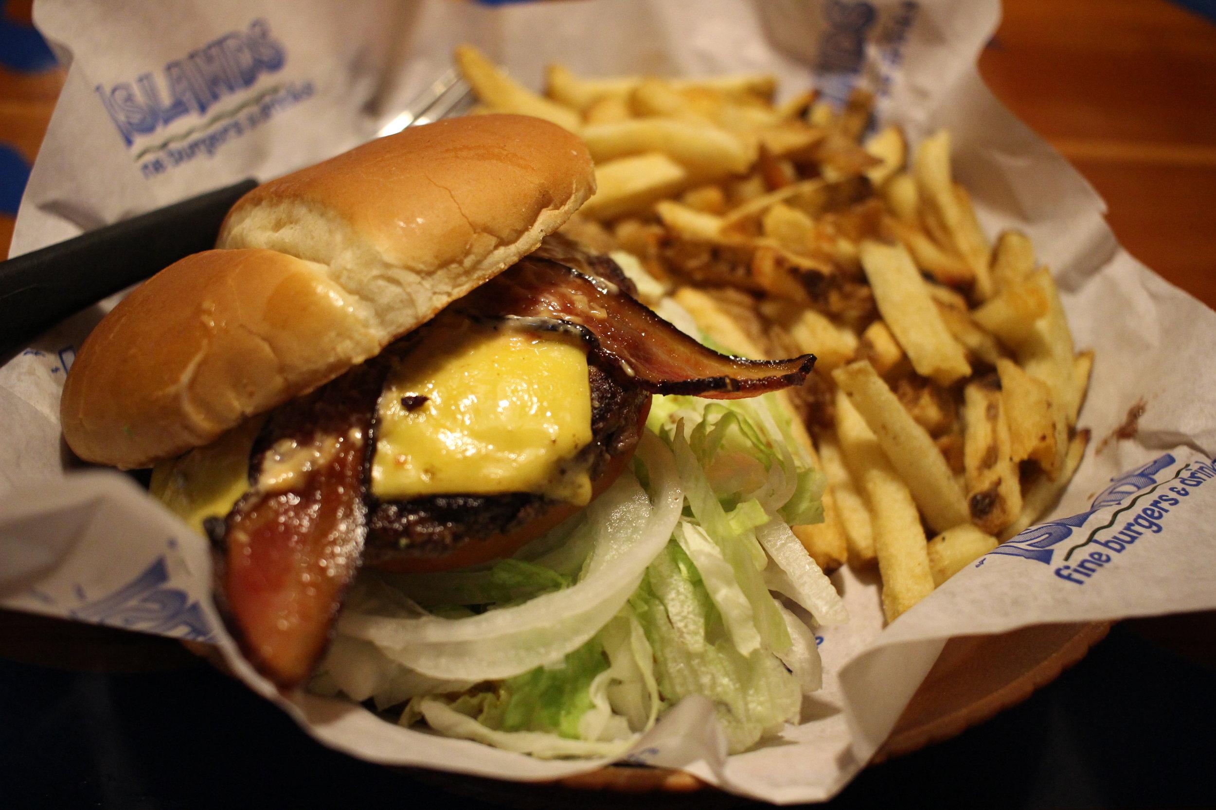 Malibu Burger at Island's Restaurant