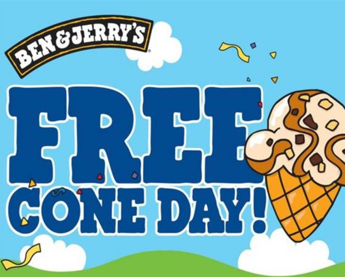 Don't miss it!  Free Ice Cream Cone at Ben & Jerry's, Seaport Village, San Diego