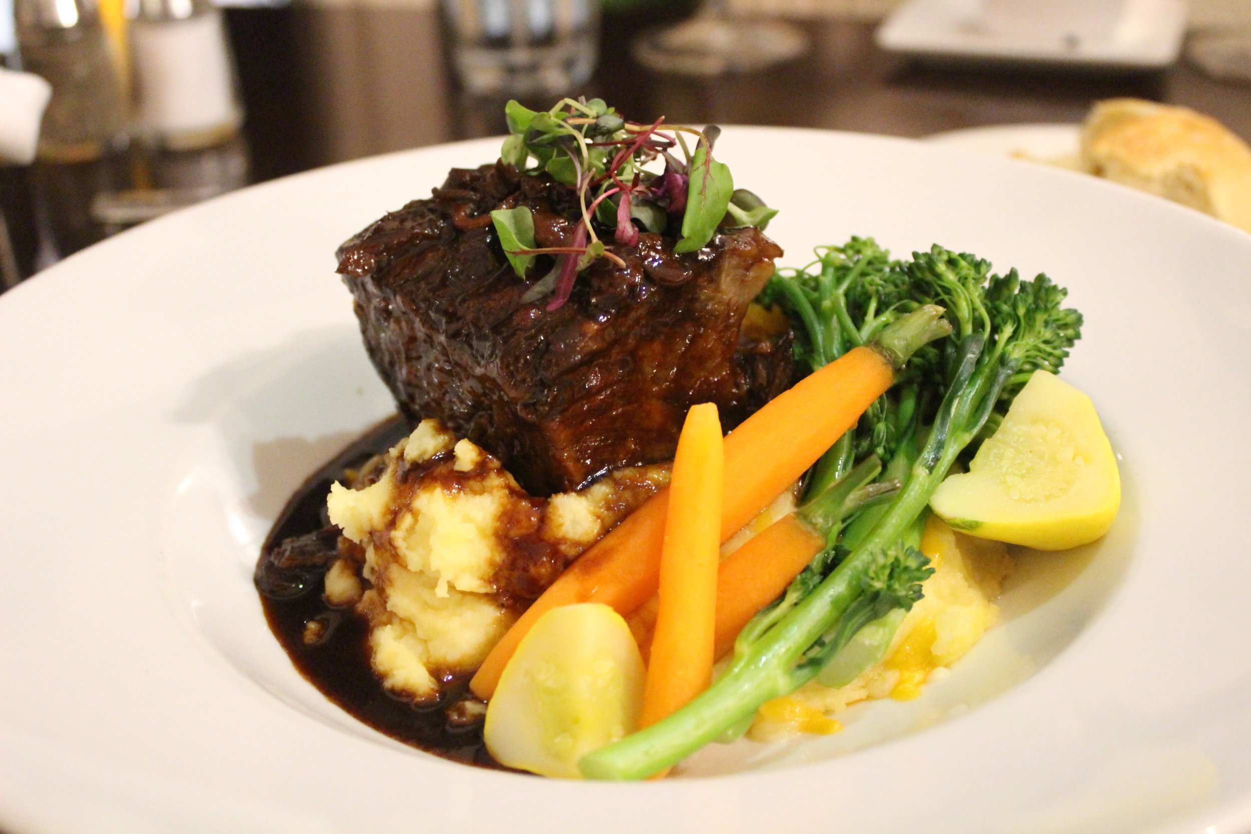 Short Ribs at The Shores Restaurant in La Jolla