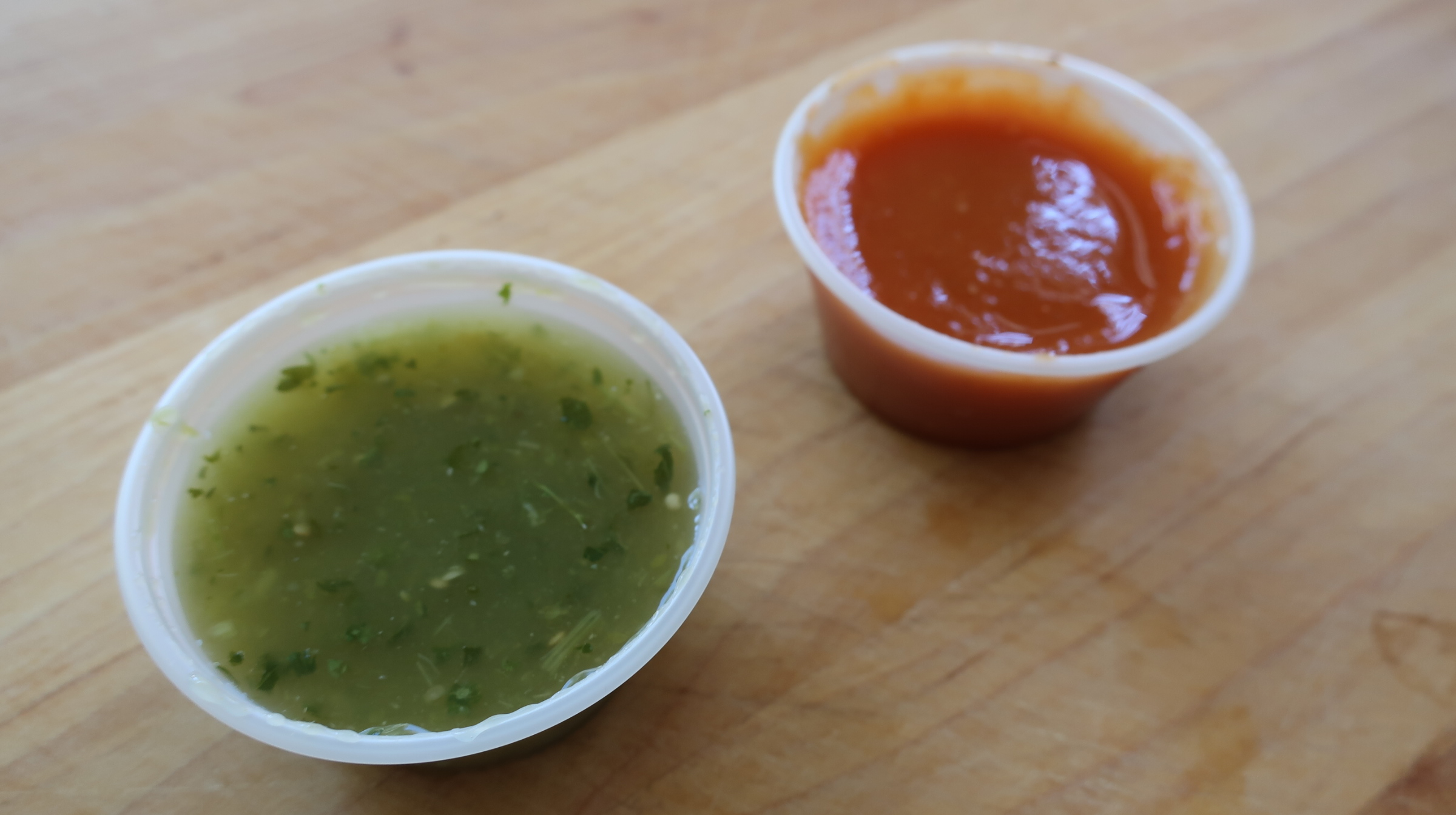 Roberto's Salsa Options.