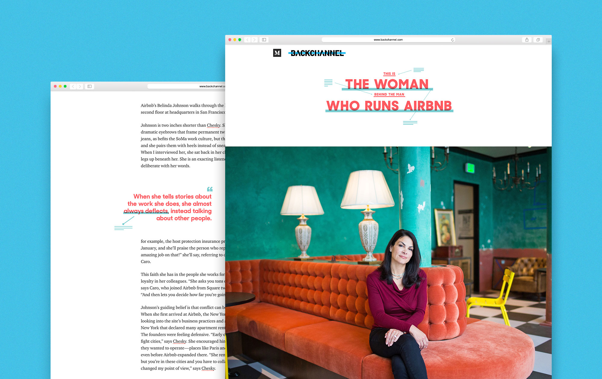 This is the Woman Behind the Man Who Runs Airbnb  by Jessi Hempel Photography by Michelle Le