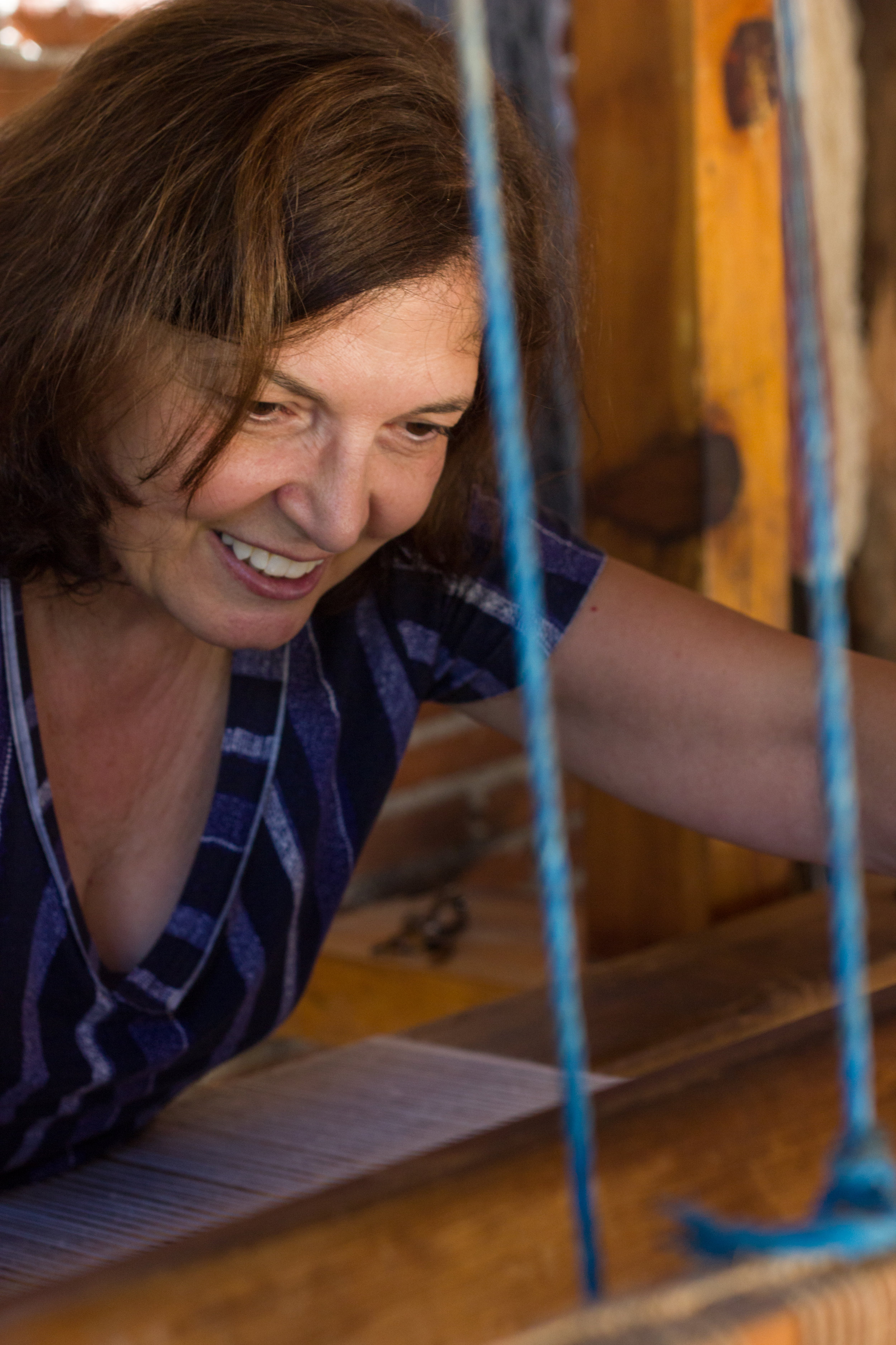 Lilian Banas Thread Caravan weaving in Oaxaca