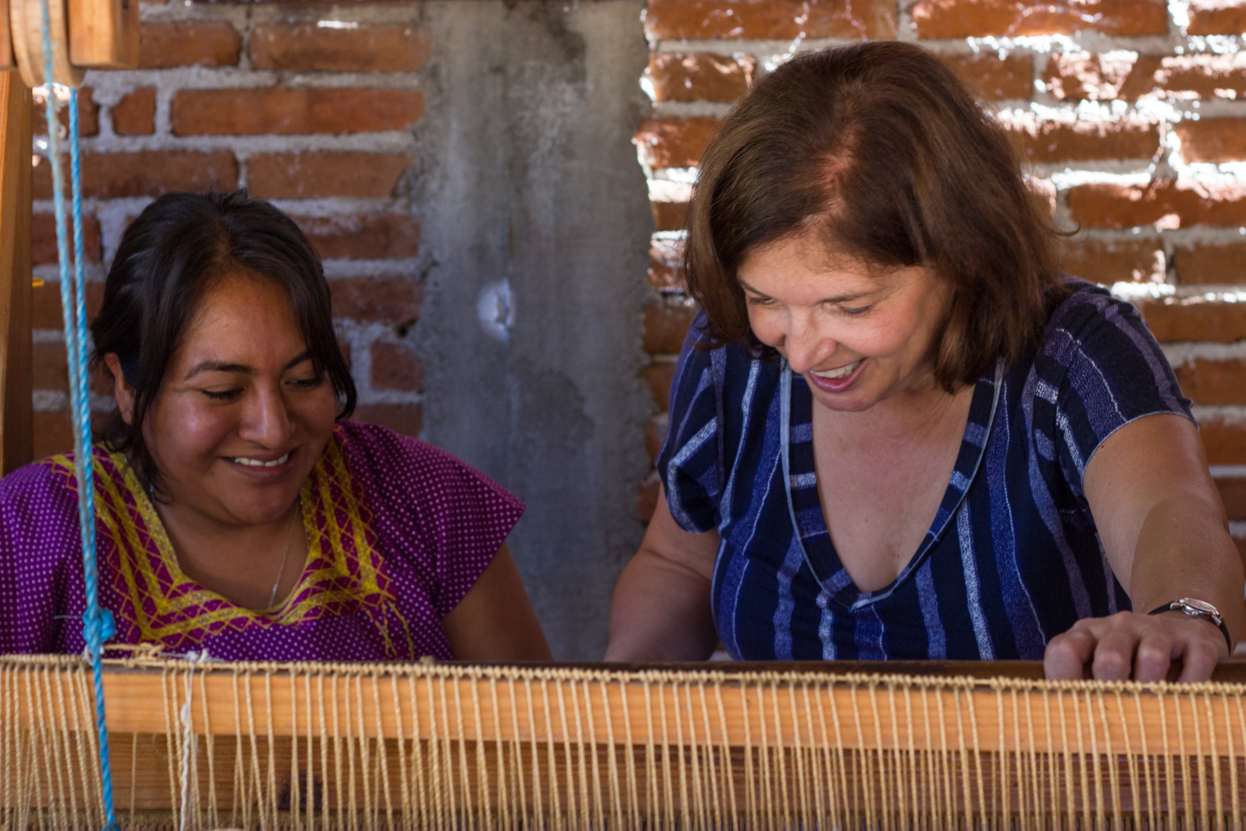 Lillian Banas weaving workshop Oaxaca