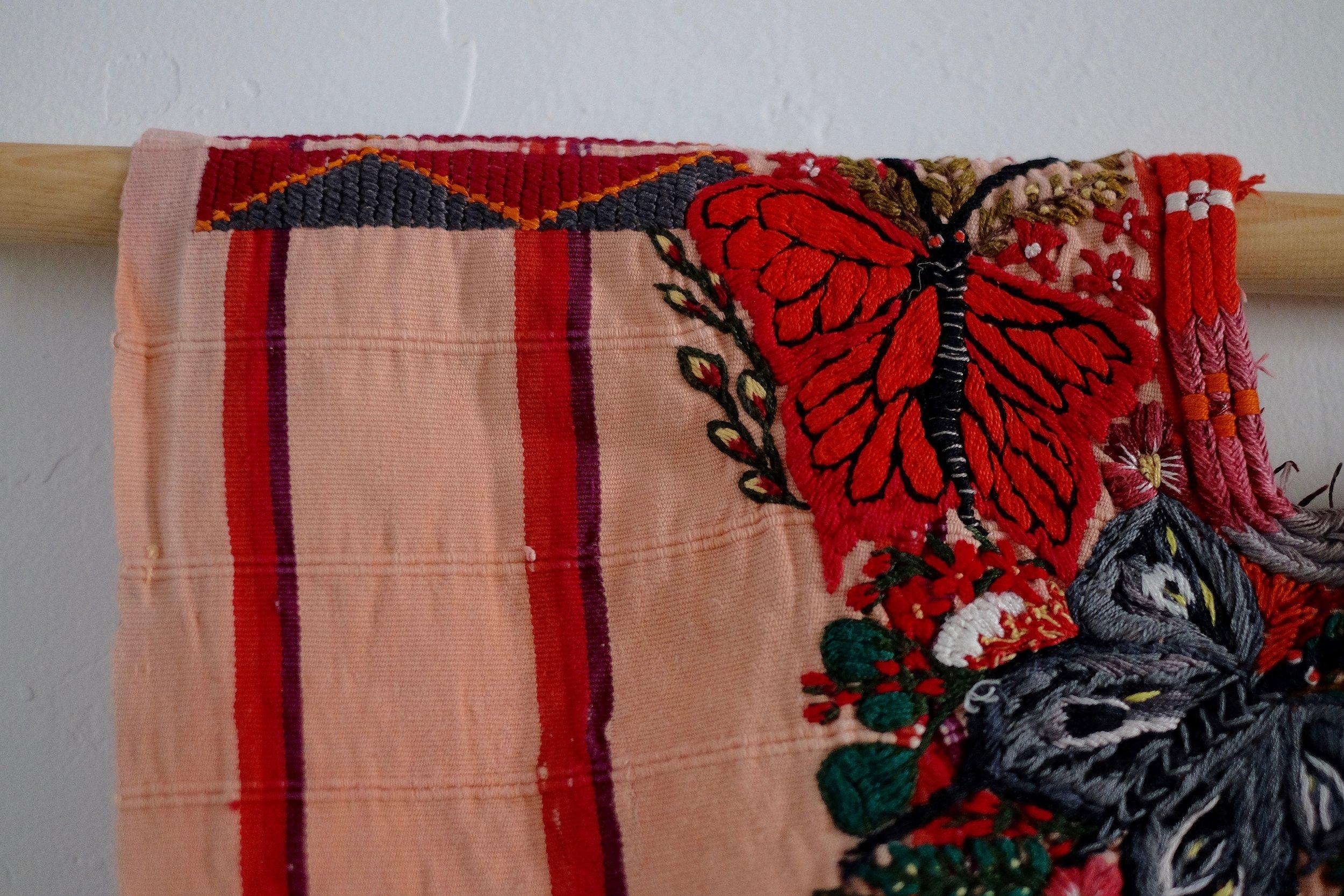 vintage santiago atitlan striped huipil by thread caravan