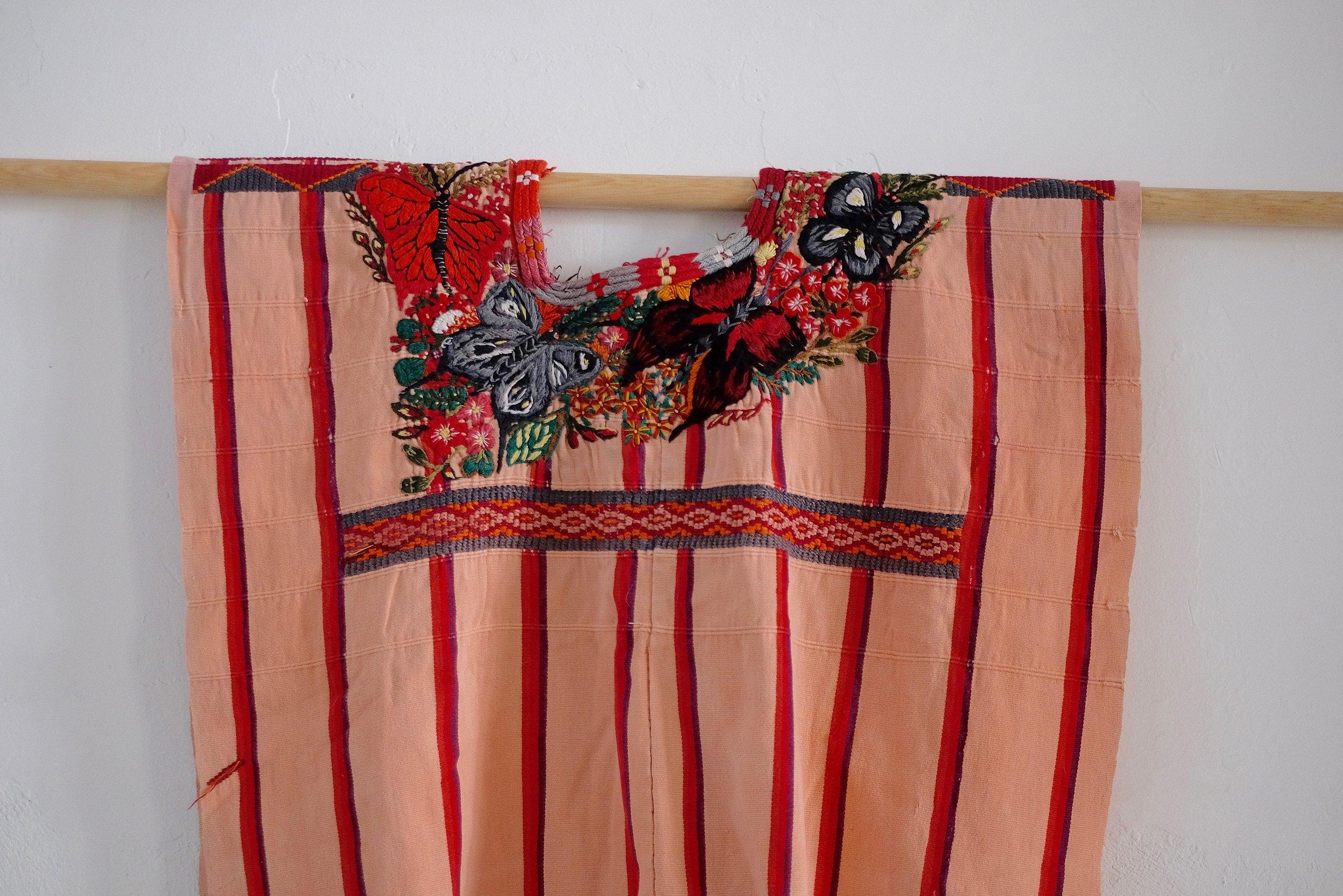 santiago atitlan vintage striped huipil by thread caravan