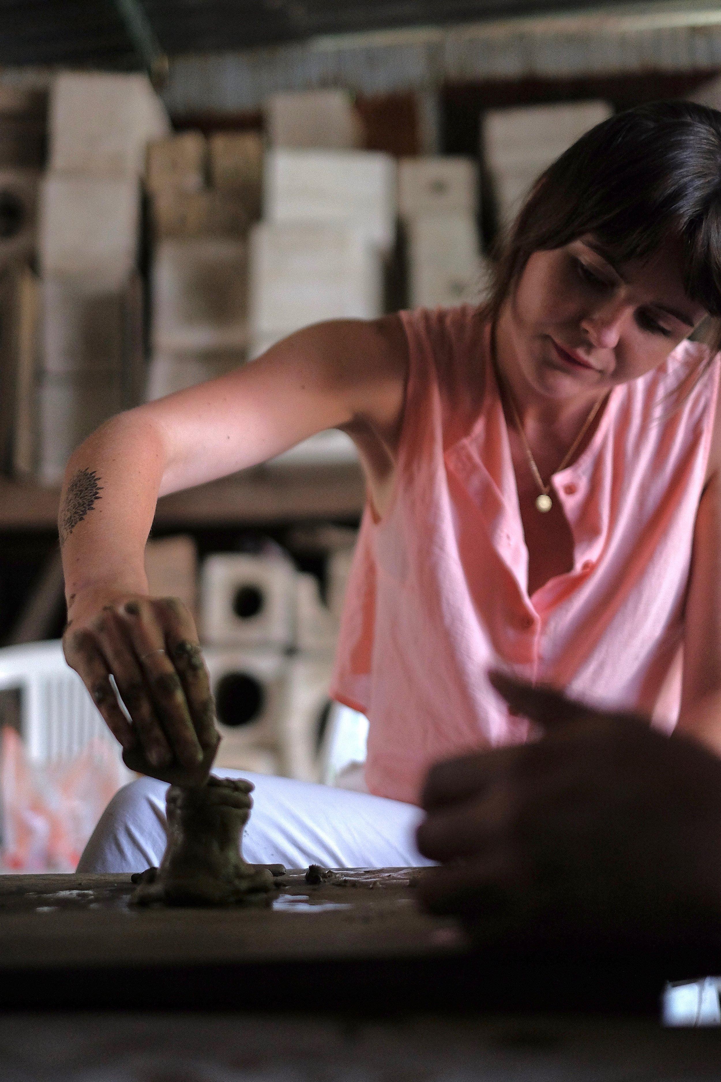 Sophia Mullin Oaxaca ceramics with Thread Caravan