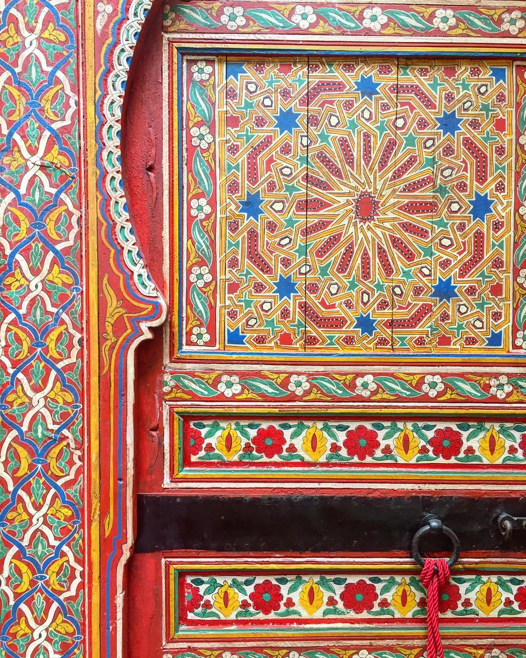 jewish painted door fez morocco thread caravan.jpg