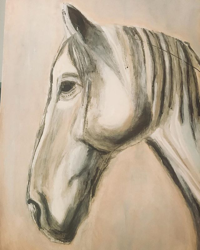 New #horseart #contemporaryart #equestrianart #horseofinstagram profile