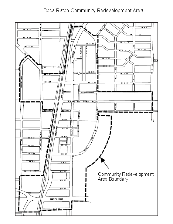 FIGURE 1 -  Boca Raton CRA Boundaries (click to enlarge)