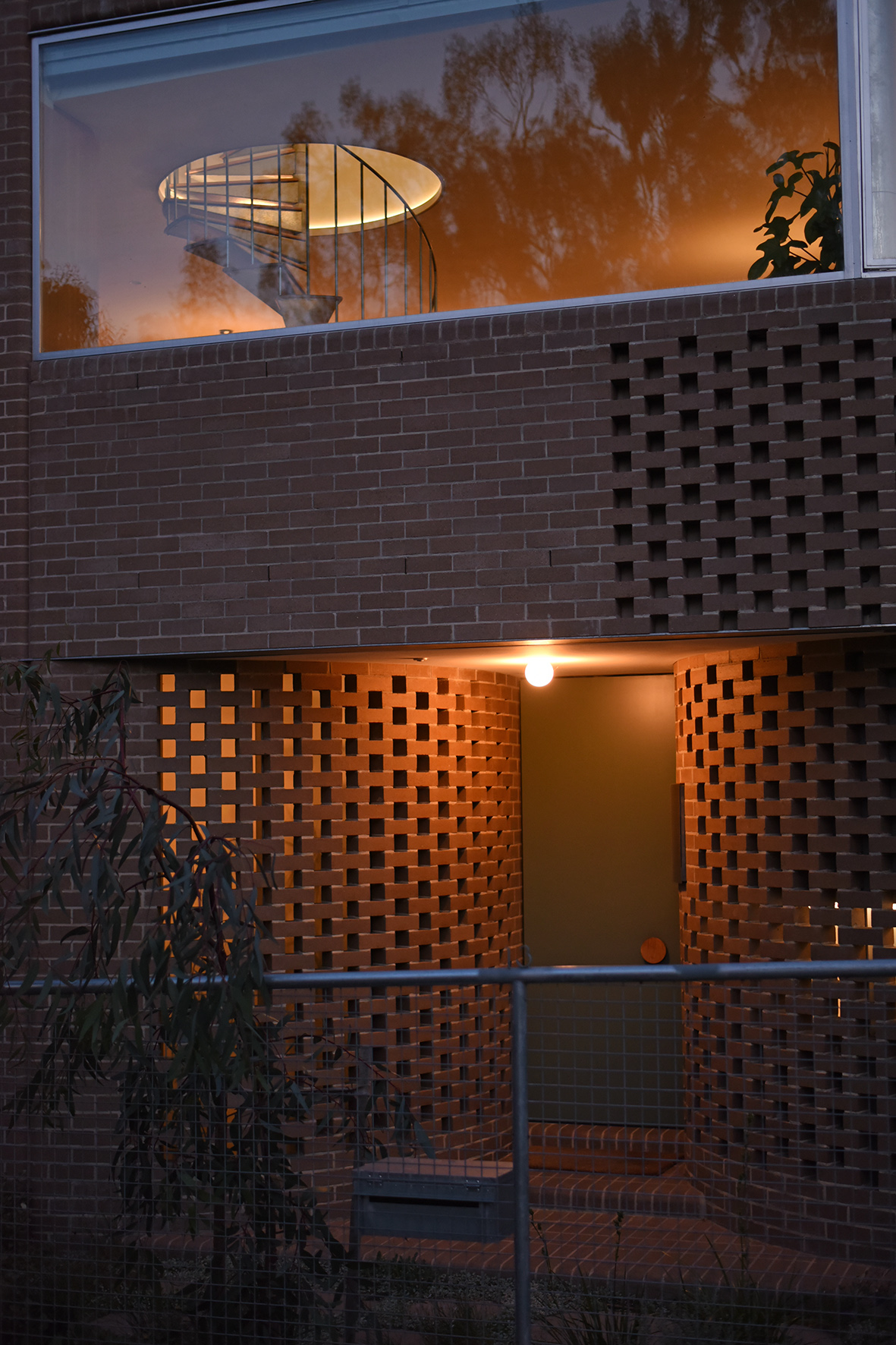 Entry to house...exit to roof  Photo Andrew Kidman