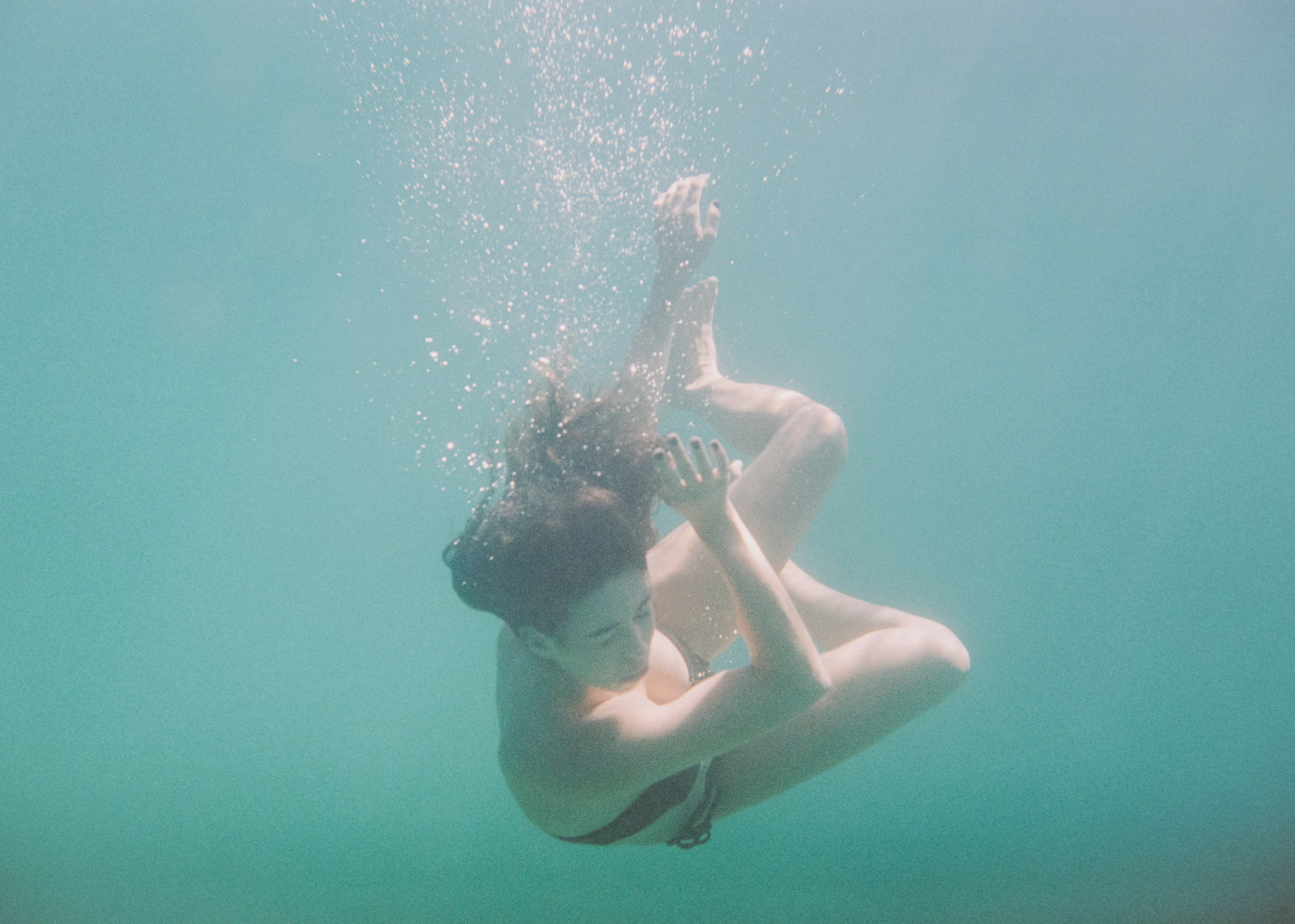 """It's about your other senses. Feeling the water + listening to your thoughts."" - — Rosie Gallen"