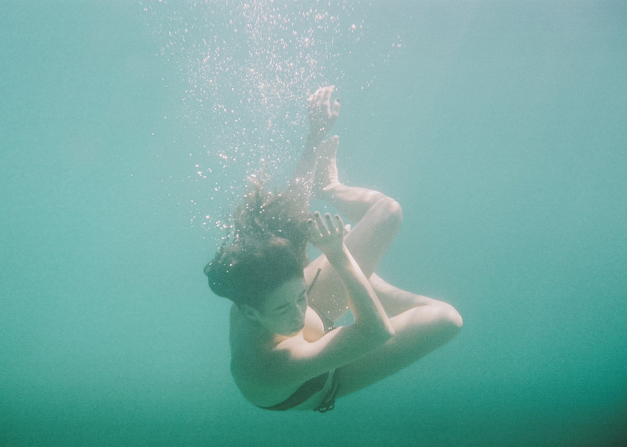 """It's about your other senses. Feeling the water and listening to your thoughts."" - — Rosie Gallen"