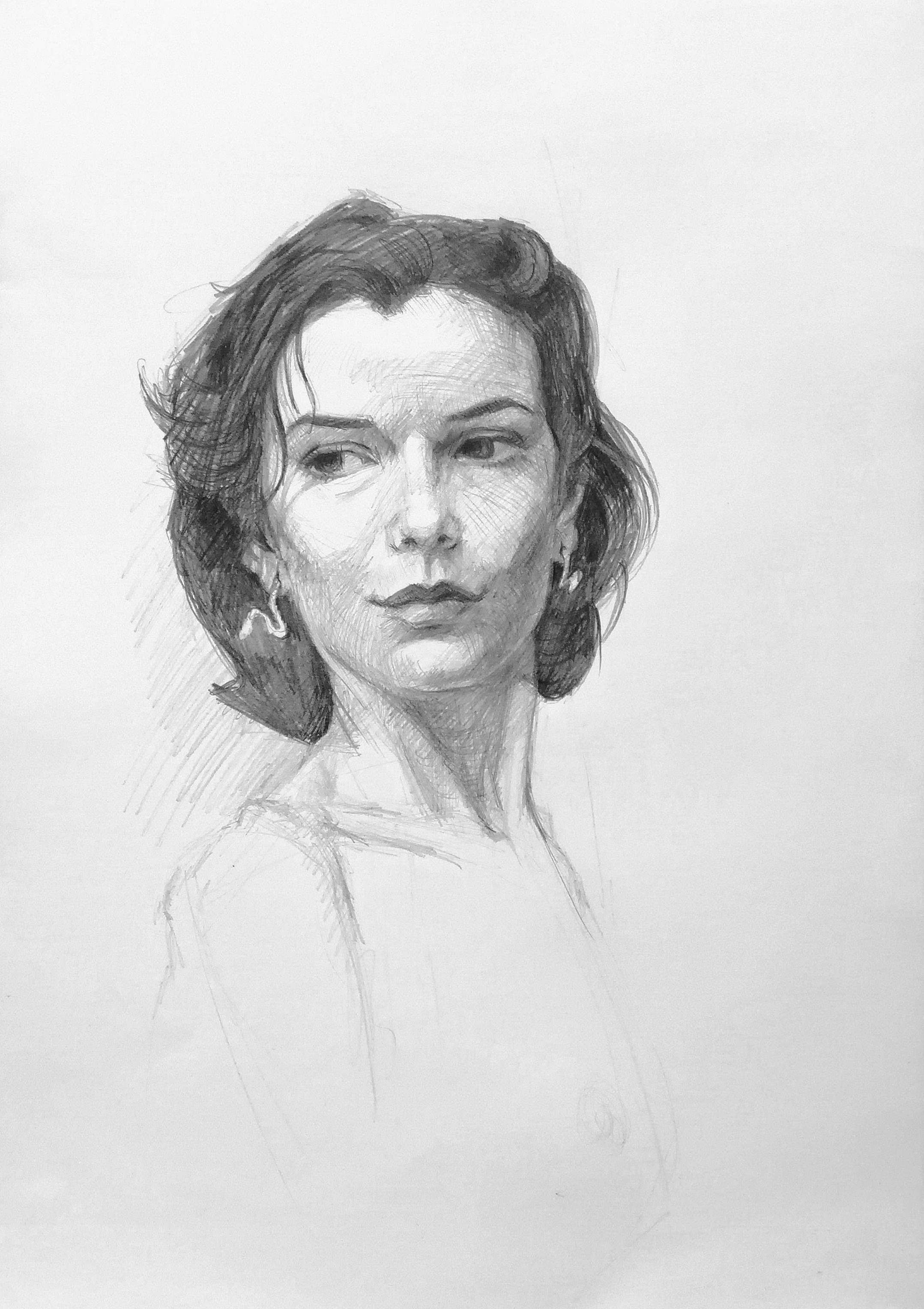 3 hour portrait from life model