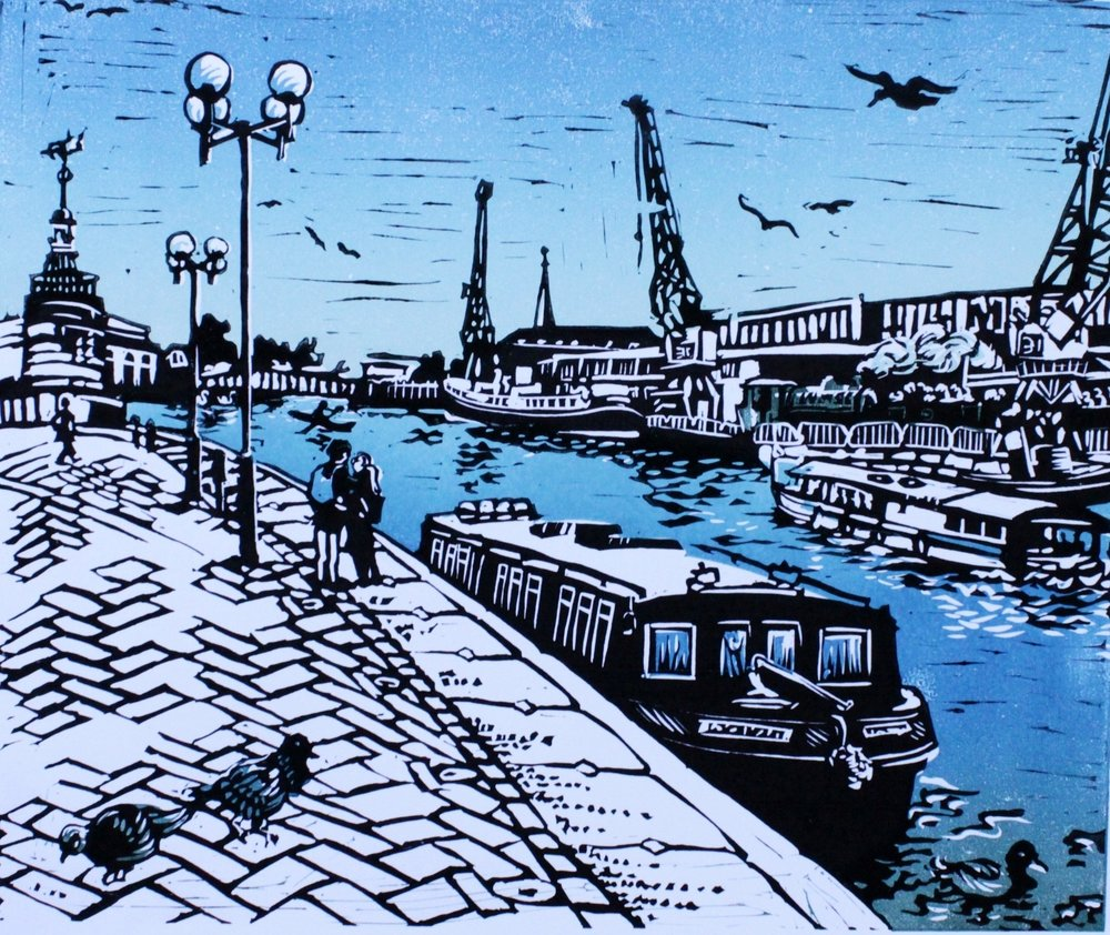 Linocuts, hand printed in small editions