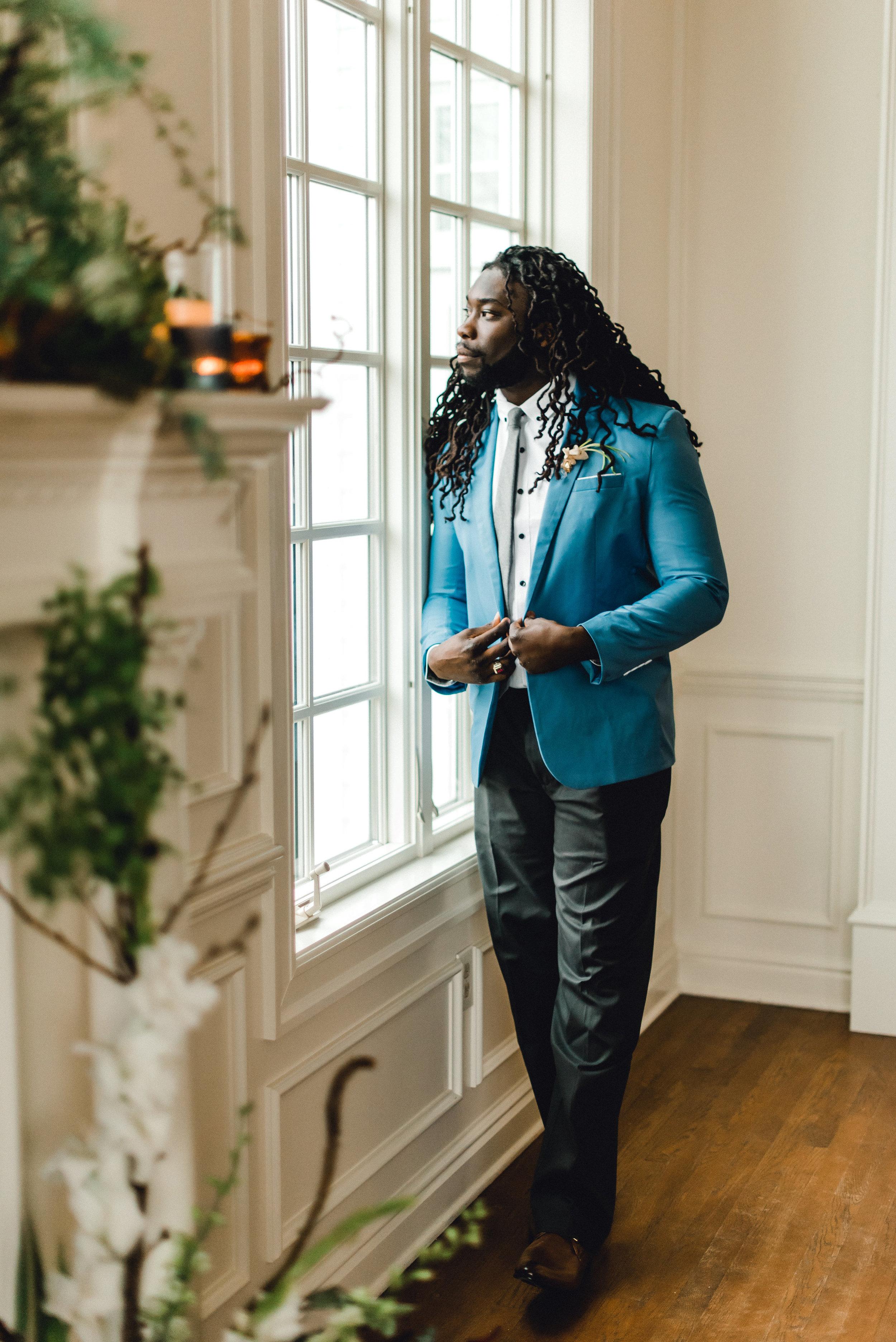 Romantic-Pittsburgh-Garden-Wedding-Blue-Blazer.jpg