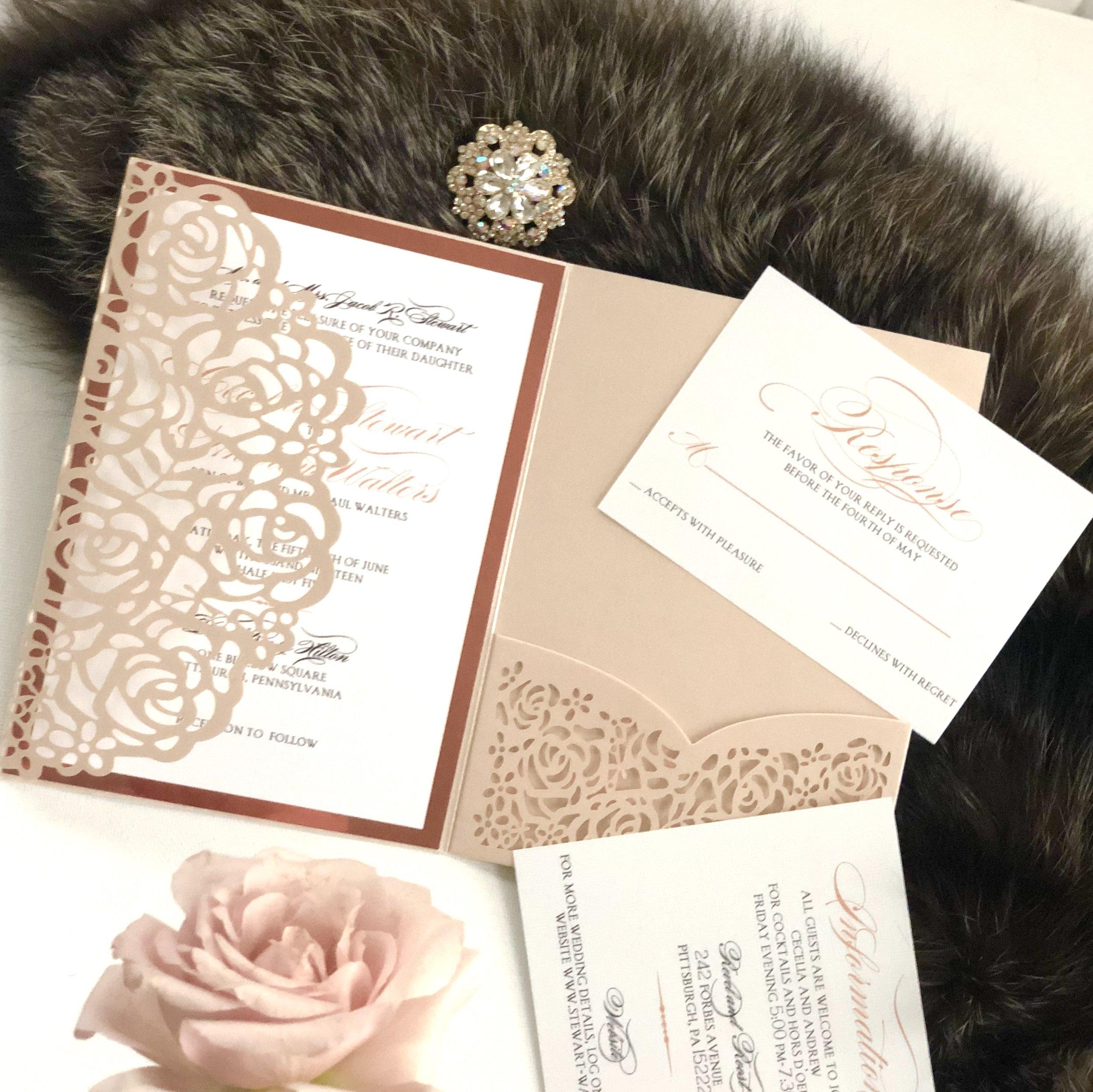 Rose-pattern-laser-cut-wedding-invitations-by-k-flowers-designs