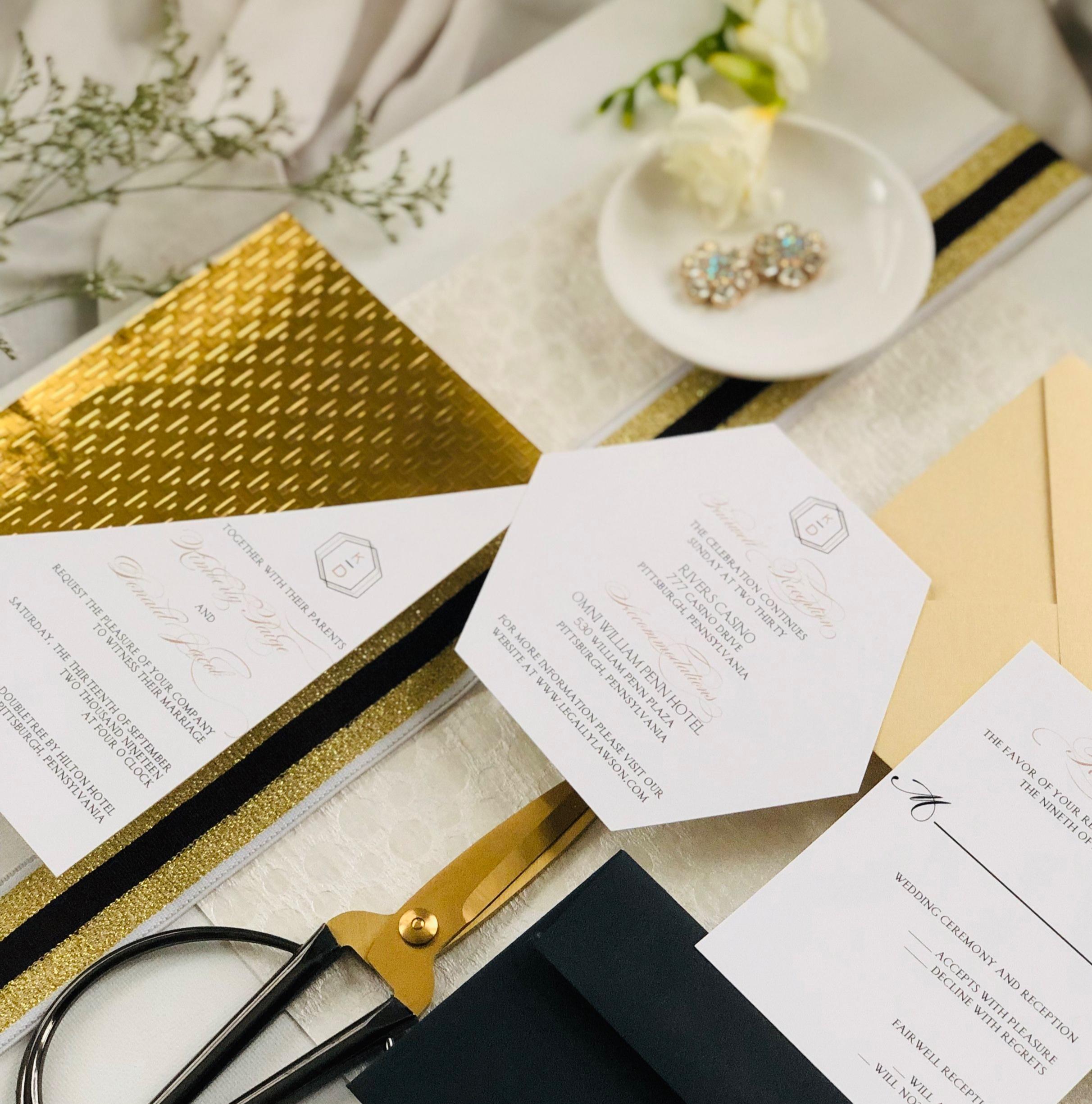Modern-Glam-Black-and-Gold-Wedding-Invitation-by-K-Flowers-Designs3