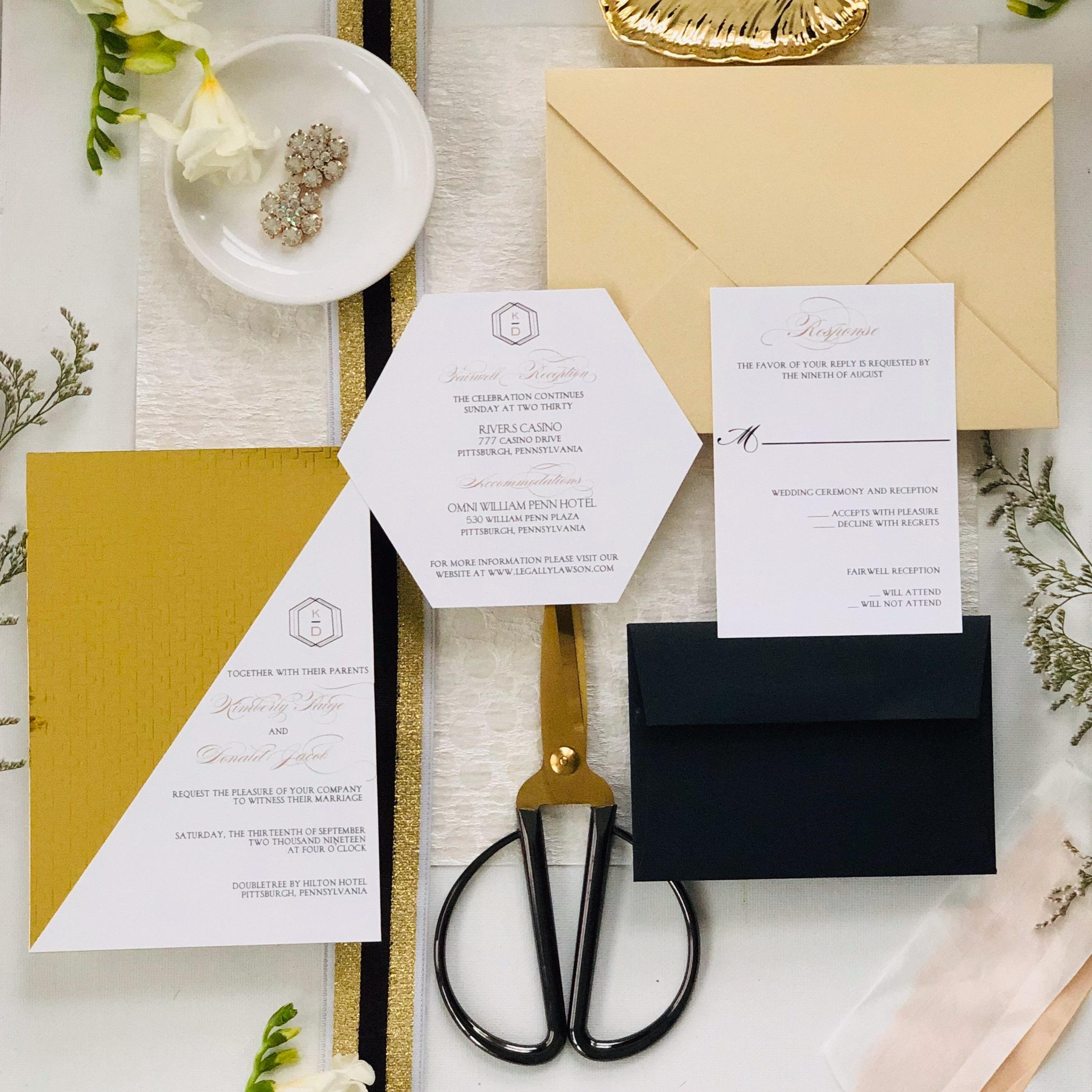 Modern-Glam-Black-and-Gold-Wedding-Invitation-by-K-Flowers-Designs