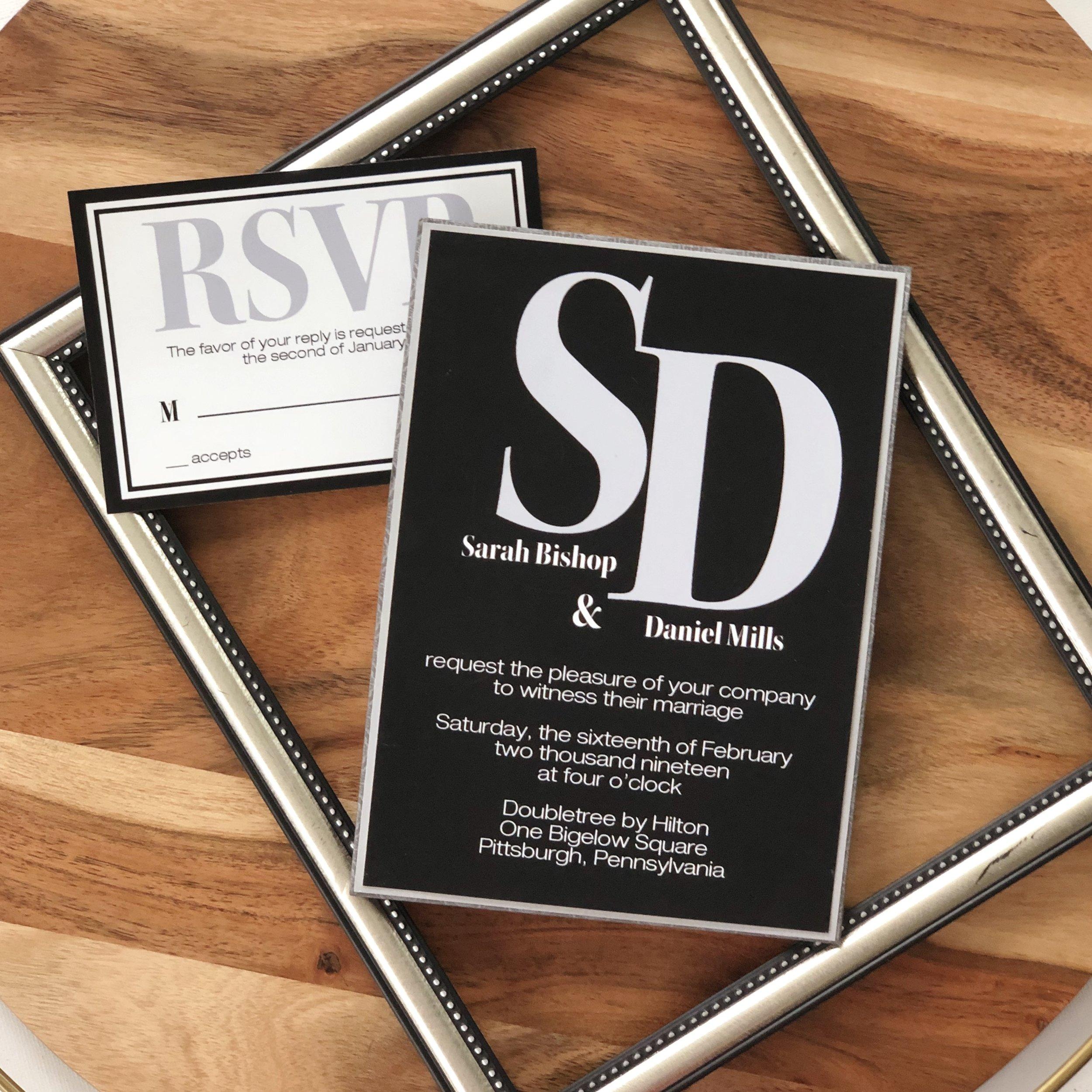 Modern-Bold-Black-Wedding-Invitation-by-K-Flowers-Designs