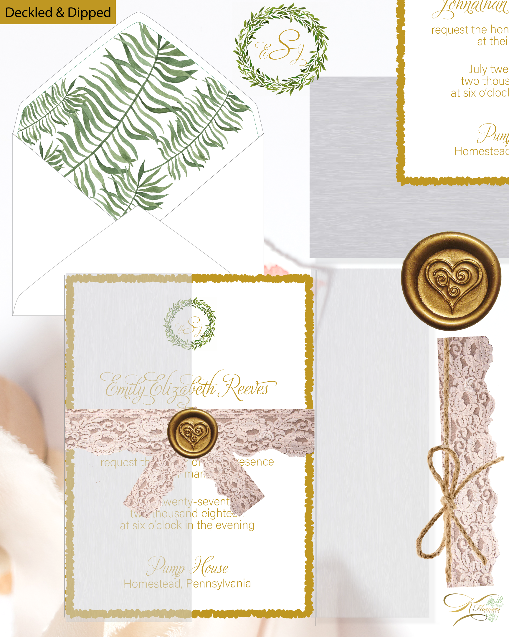 Design - I design a CUSTOM SAMPLE including all the details an elements that are important to you. I send you a DIGITAL PROOF of your INVITATION WORDING and DESIGN. You may request edits and/or changes at this time. We're done when you're HAPPY.
