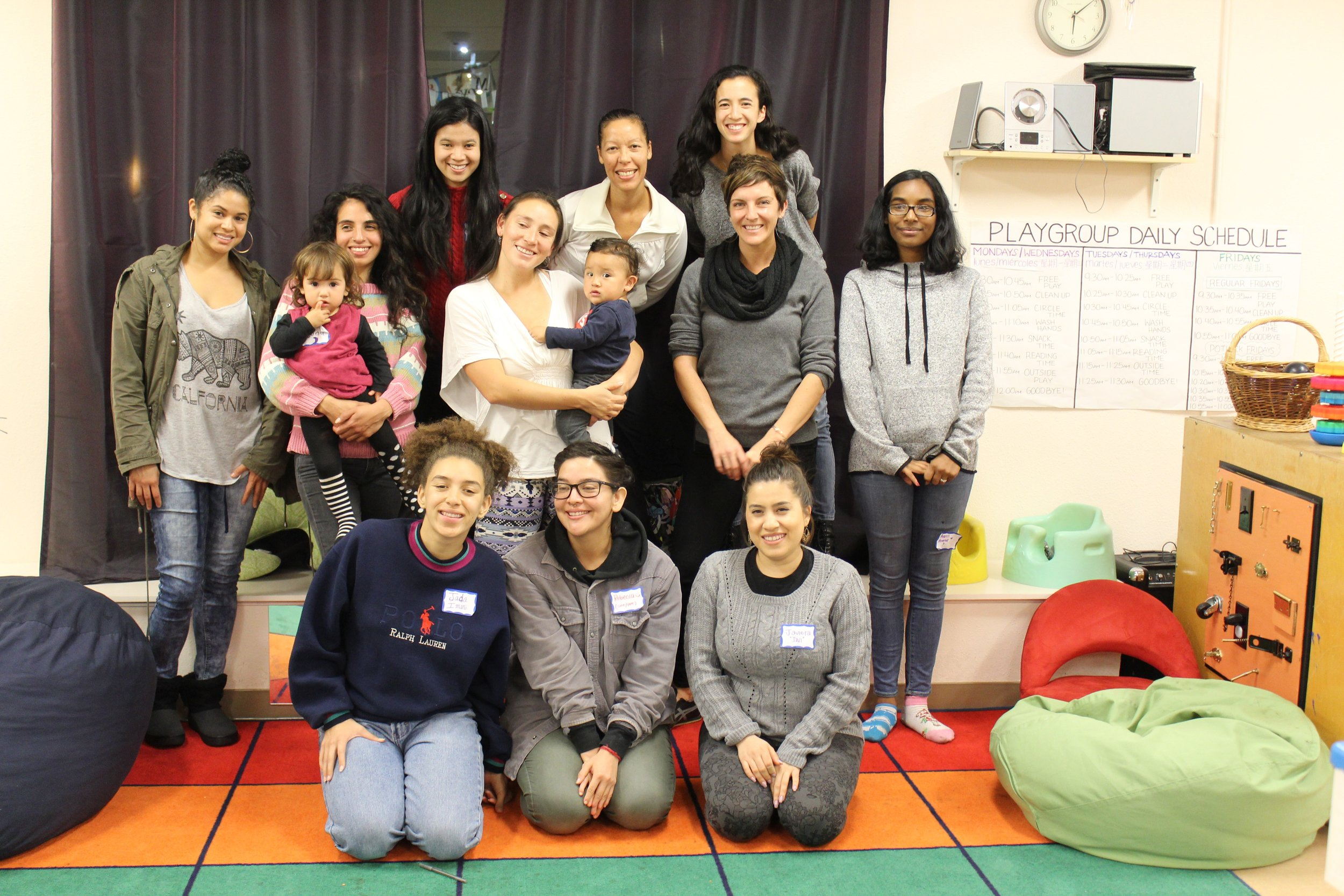 From Left to Right: (Top Row)  Bianca Lewis, Alejandra Ortiz, Ashley Ching, Maria Angelica Vargas, Jetaun Mills, Allison Stanton, Kat Whipple, Araceli Andrade, (Bottom Row) Jada Imani, Rebecca Orozco and Javiera Torres.