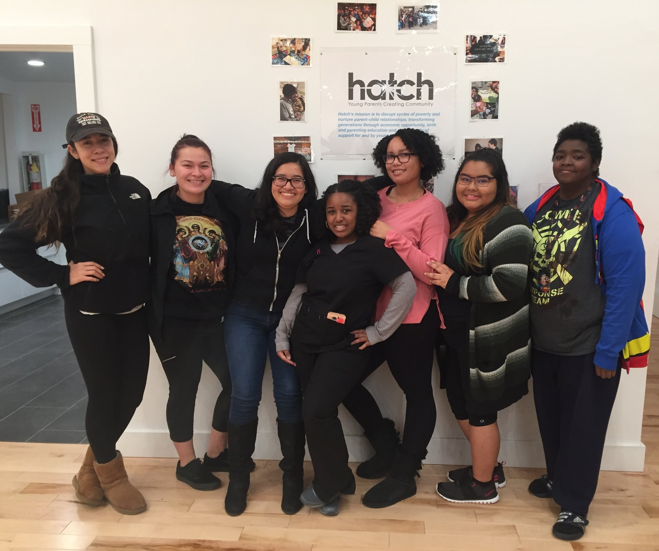 Meet the 2017 Cohort 3 Mentors!  From left to right: Bianca, Beatriz, Nicole, Chantal, Alatia, Natalie, and Brittney.