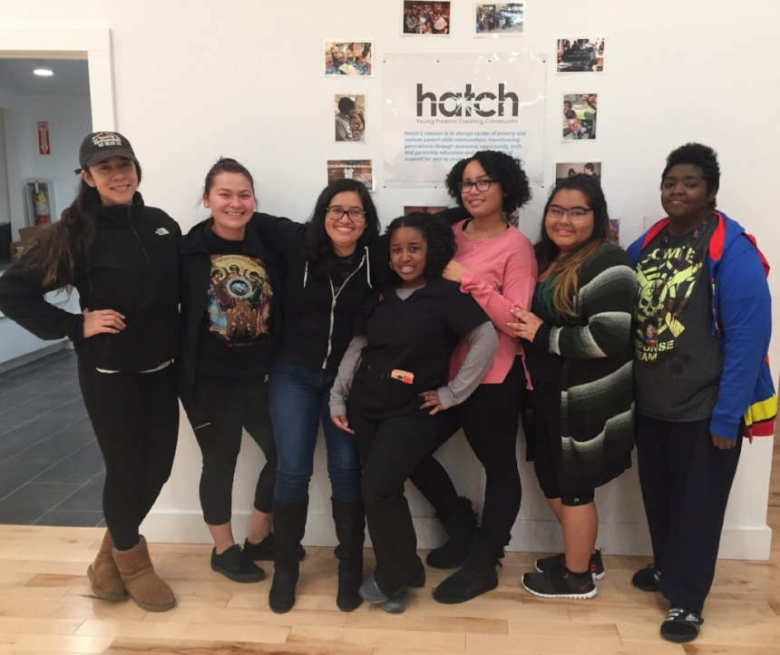 Hatch's Doula Mentors: (from left to right) Bianca, Beatriz, Nicole, Chantal, Alatia, Natalie, and Brittney.    Bianca Martinez: I often reflect on whether or not I would have the same morals if I hadn't been blessed with a community of support. My mother frequently reminds me that I was raised by a village. As a single parent, she worked tirelessly to provide, and find resources available to sustain her family.Hatch doulas provide support and resources that would have been greatly beneficial to my mother. When I learned about Hatch's mission, I knew that I wanted to be part of something that mirrors my own values. As I pursue a career as a certified nurse midwife, I will continue to empower parents to be the best versions of themselves. Being a Hatch mentor strengthens my desire to welcome new life to all parents, while helping mothers recognize their incredible strength.   Beatriz Trejo: When I'm not at school, I mostly enjoy hiking while listening to R&B alongside my pup Leah. Sometimes, I'm simply enjoying myself at Hatch. This past year I trained with Hatch to become a doula and successfully did so. This year, I am fortunate to still be a part of this beautiful community as a mentor. I hope that sharing my knowledge with our new doulas will help them better advocate for the families they will be supporting throughout the training and in the future.   Chantal Davis: I am passionate about justice for all people no matter what color, ethnicity, religion, sexual orientation, gender identity, or legal status. I've found that there are many injustices against mothers of color and younger mothers. I strive to reclaim birth as a normal human process rather than a medical event and restore the power of a woman's birth to the rightful owner. As a mentor, I want to empower the doula trainees to not only be the best they can be, but also provide the support needed for their clients to feel powerful, in control, capable, and loved. I will support their journey of finding th