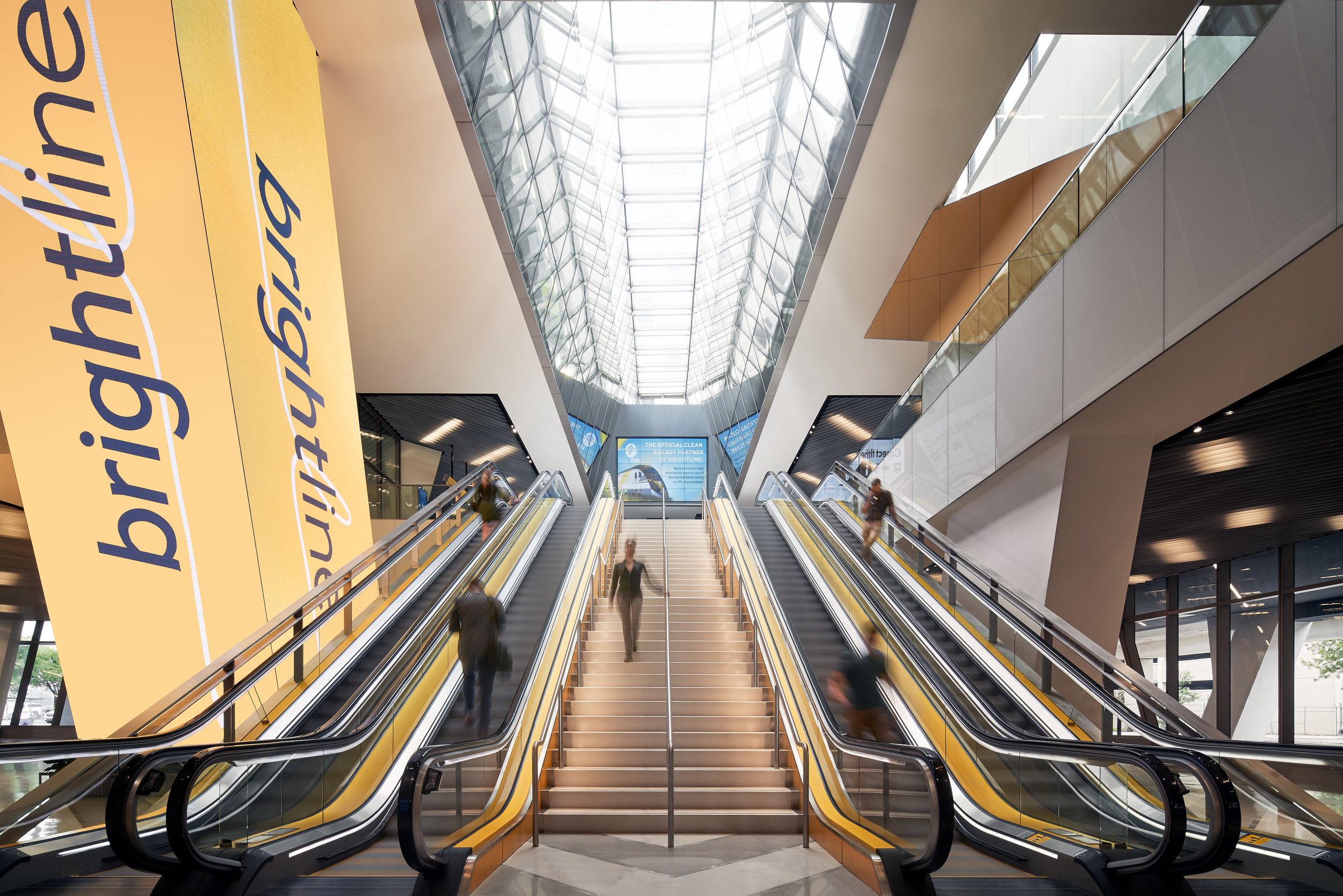 Go Brightline / Virgin Railways Escalator: Miami, FL