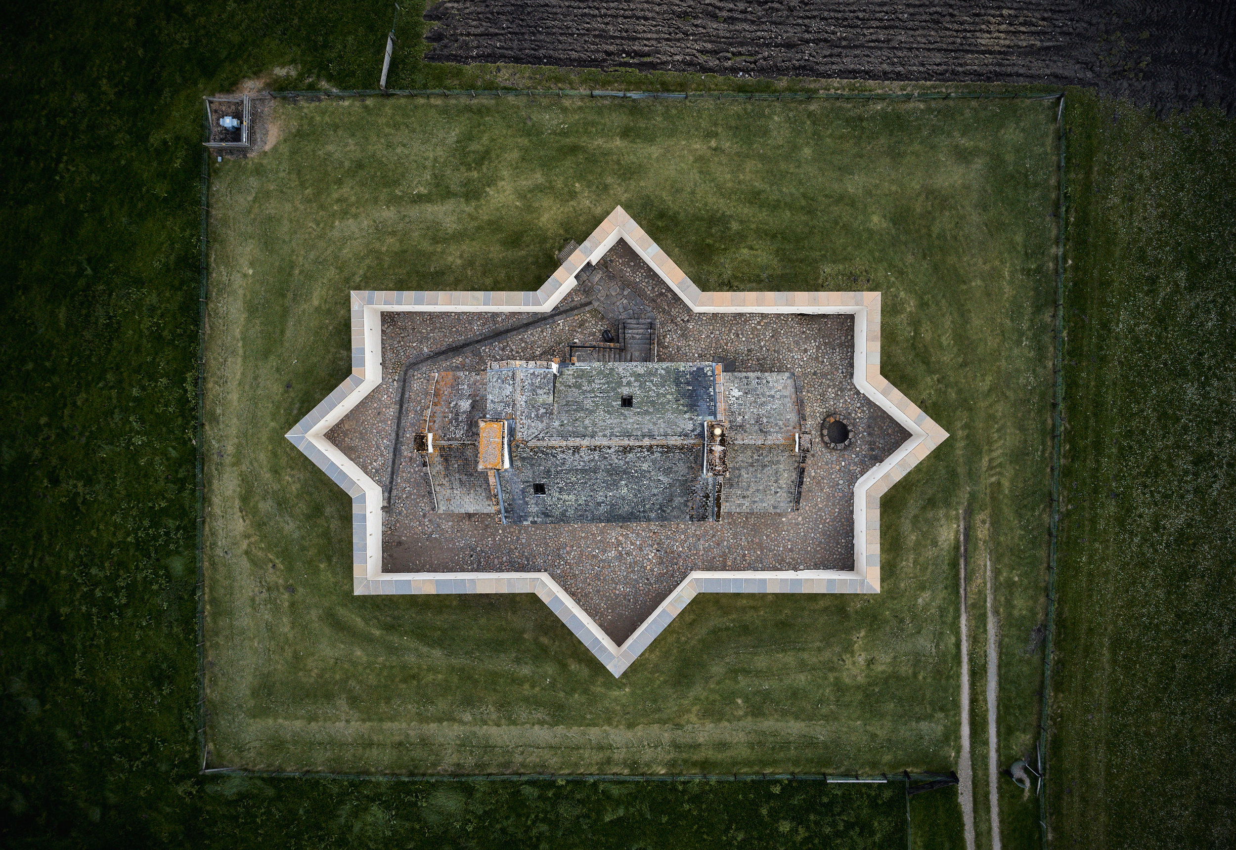 Corgoff Castle from above.jpg