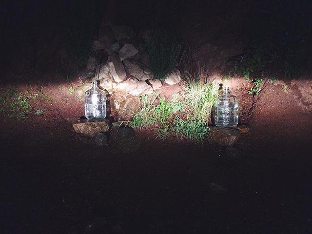 Red rock spring drinking water fill up last night #Unfarmed