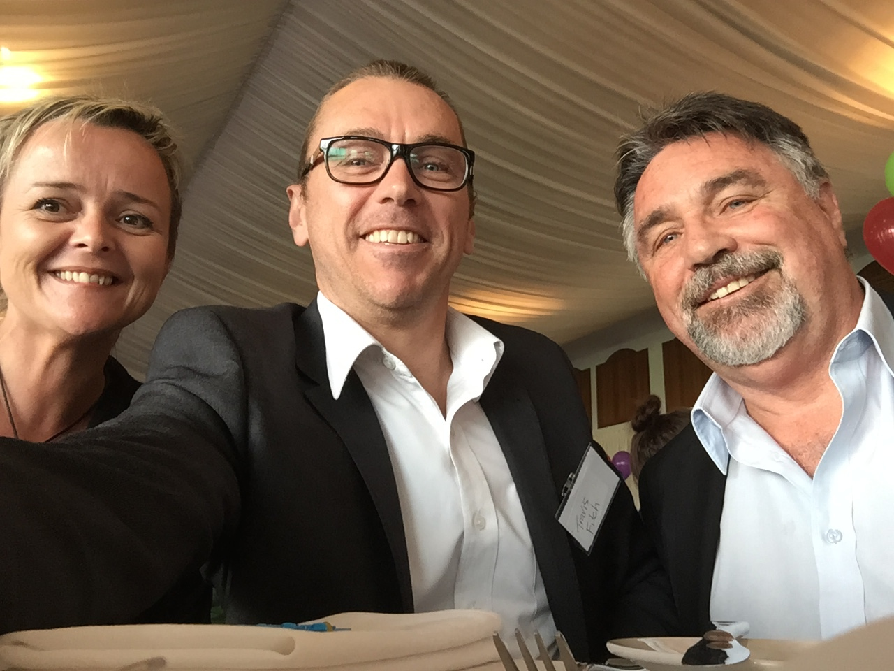 CEO, Travis Fitch (centre) with Caroline Speirs and Roley Bayman (District Director)from Mirrabooka Department of CPFS