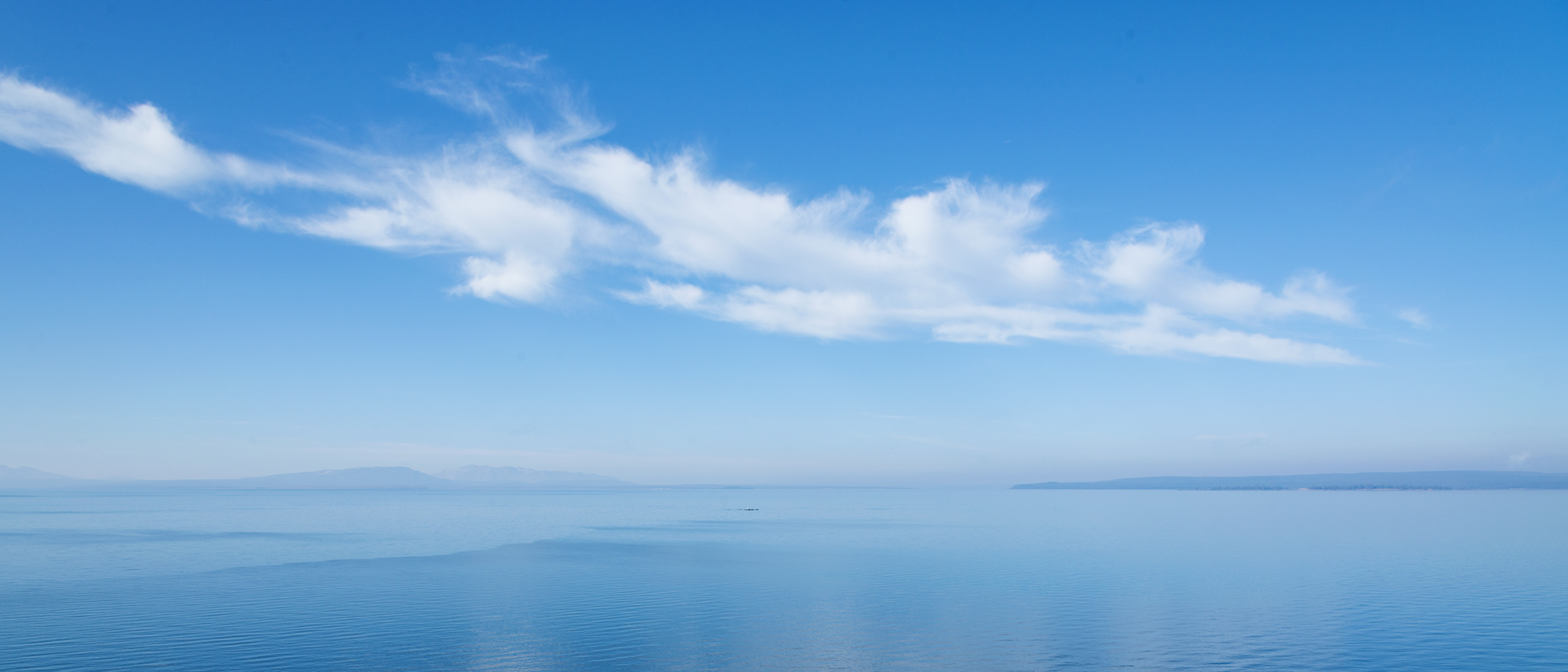 The morning sky from the east side of Yellowstone Lake.