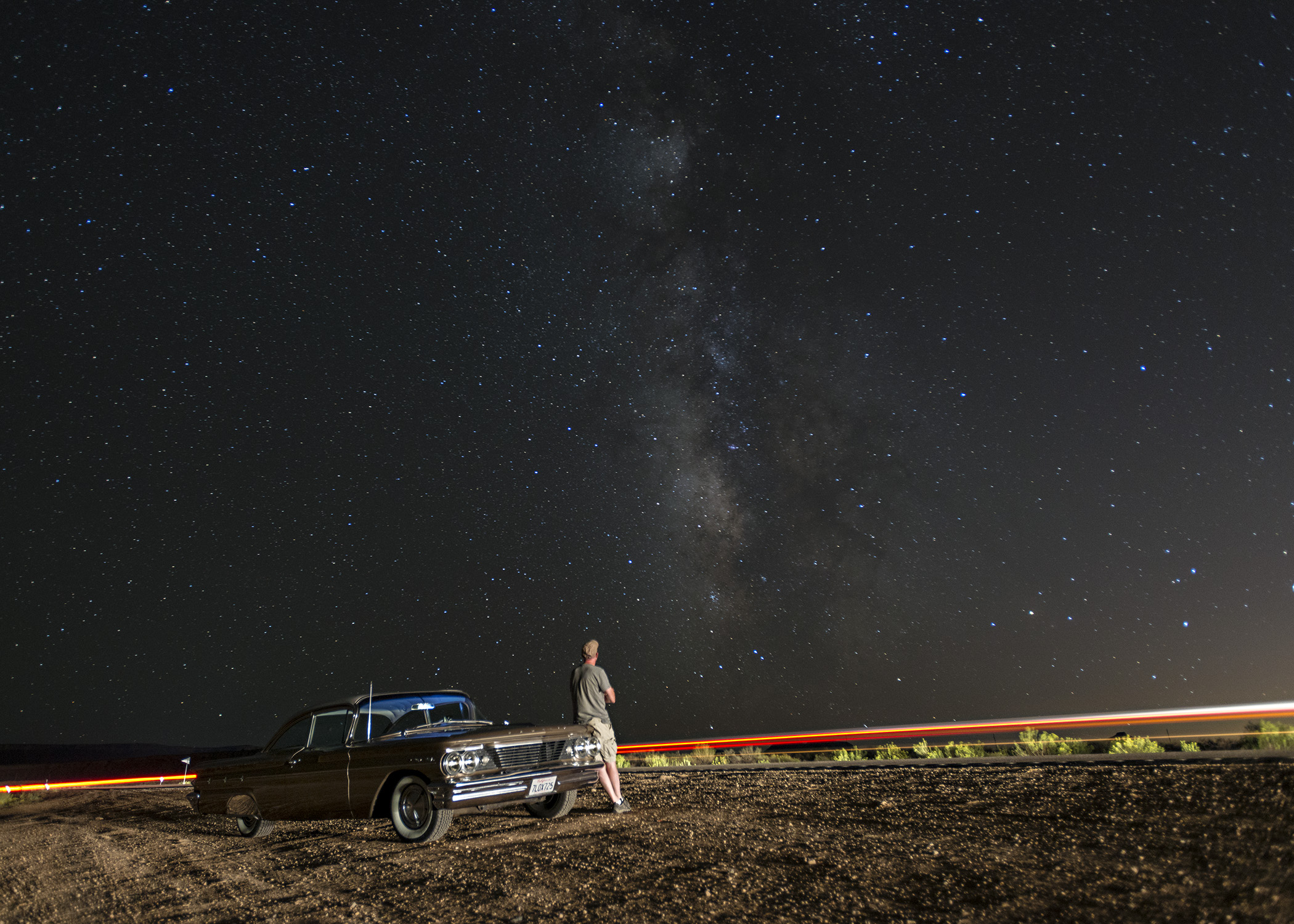 Self portrait east of St. George. I found it hard to leave. Nikon D800, 17-35mm lens @ 20mm, iso 1600, f2.8, 25 sec.