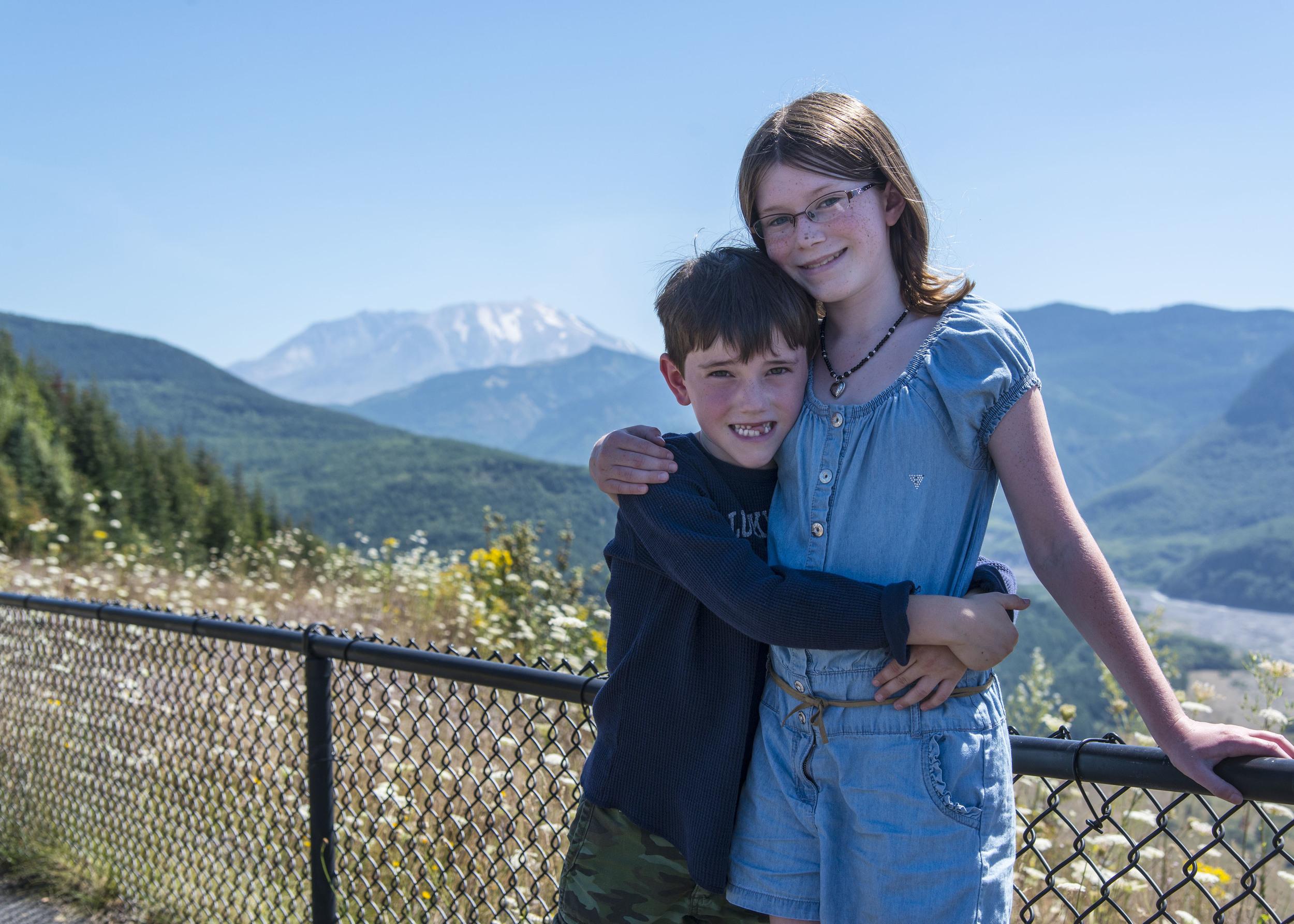 Samantha and Parker at Mt. Saint Helens. Nikon D800, Nikkor 24-120mm lens @ 48mm, ISO 200, f5.6, 1/1000 sec.