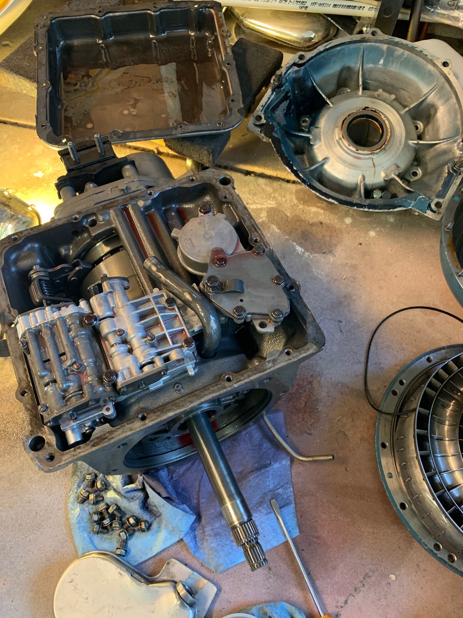Digging into the guts of a transmission is not for the faint at heart. It's the automotive equivalent of brain surgery. iPhone XR.