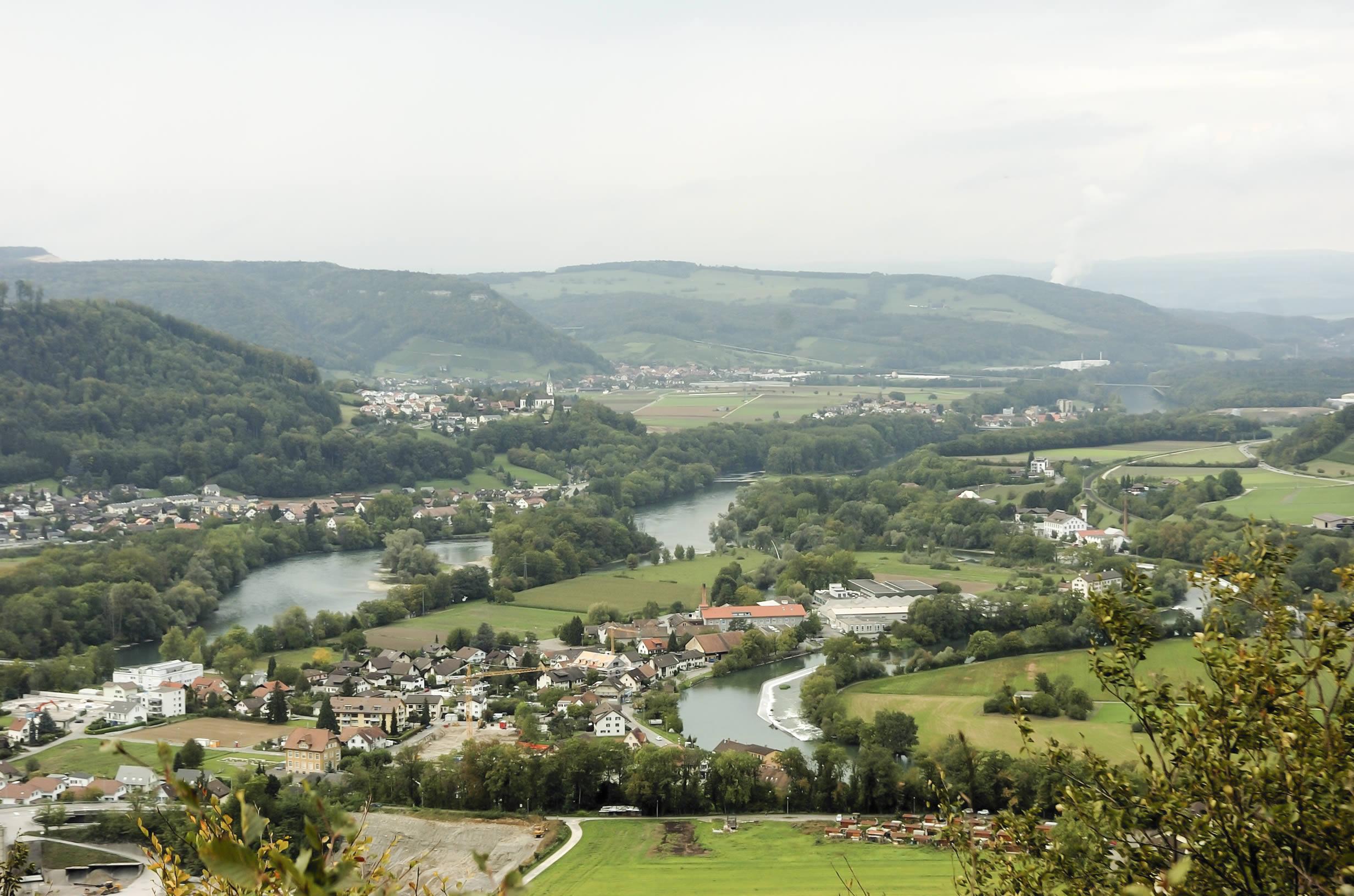 Wasserschloss / Blick vom Gebenstorfer Horn